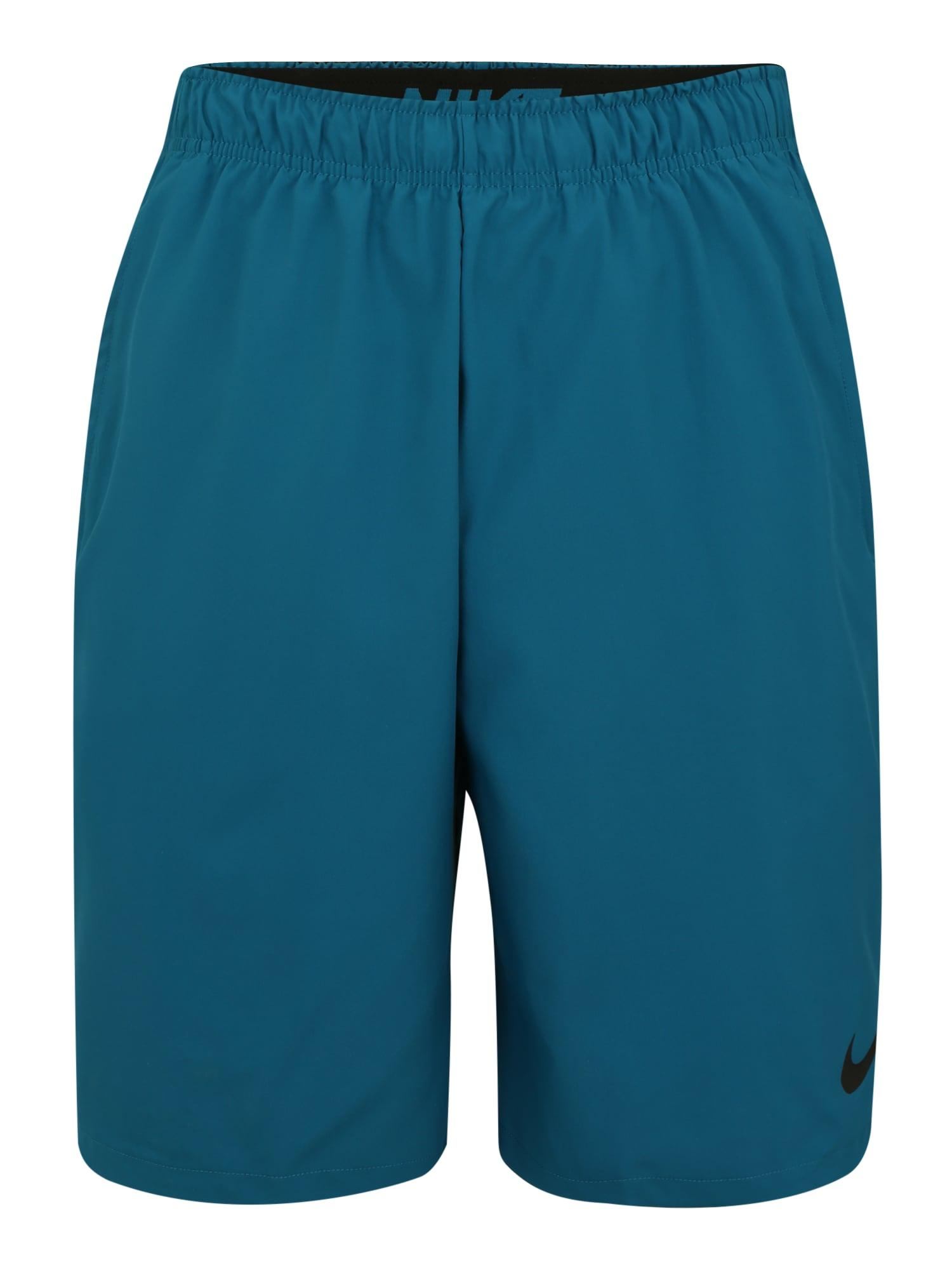 Sportovní kalhoty Flex nebeská modř černá NIKE
