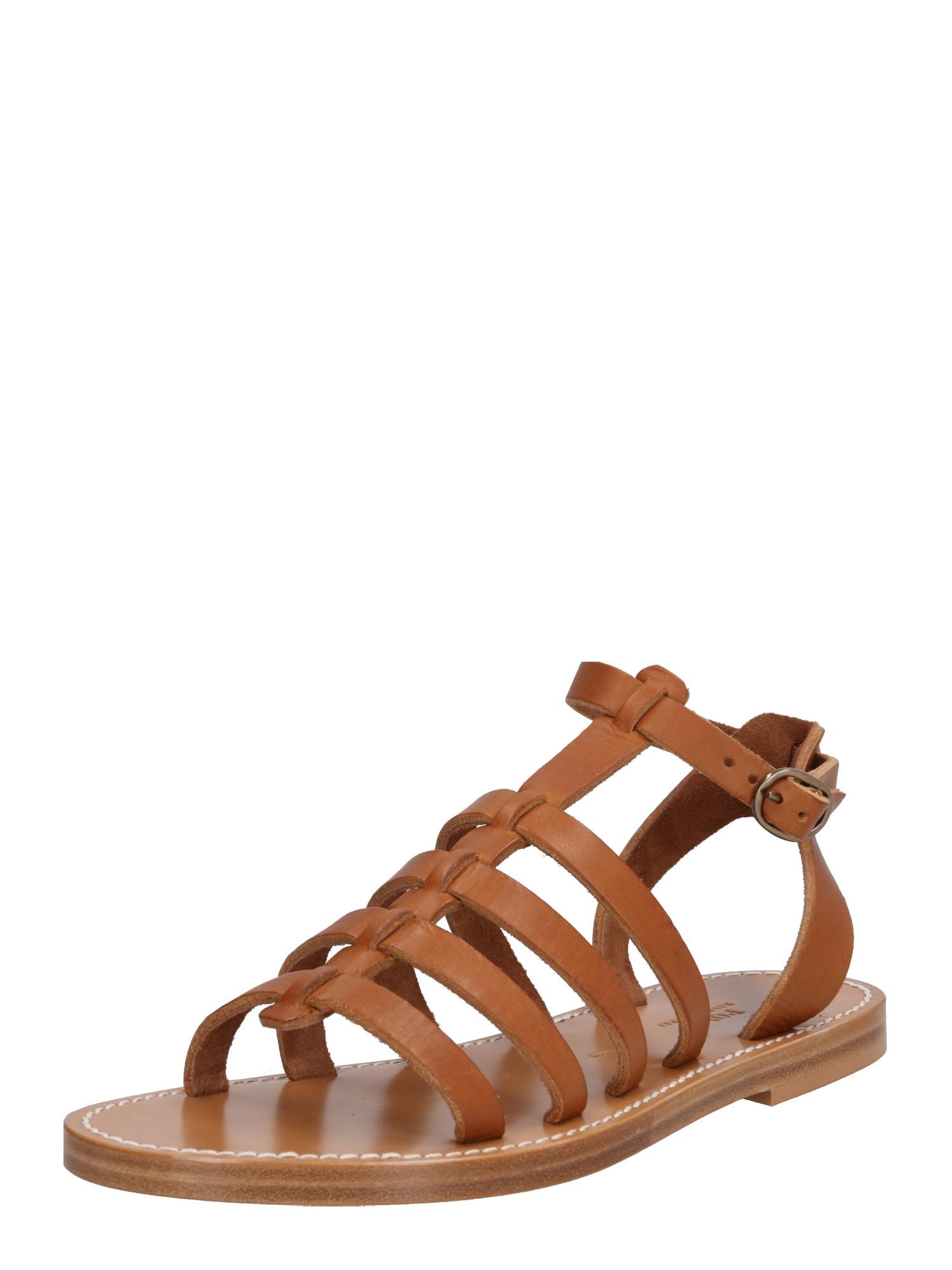 Páskové sandály Julianne světle hnědá POLO RALPH LAUREN