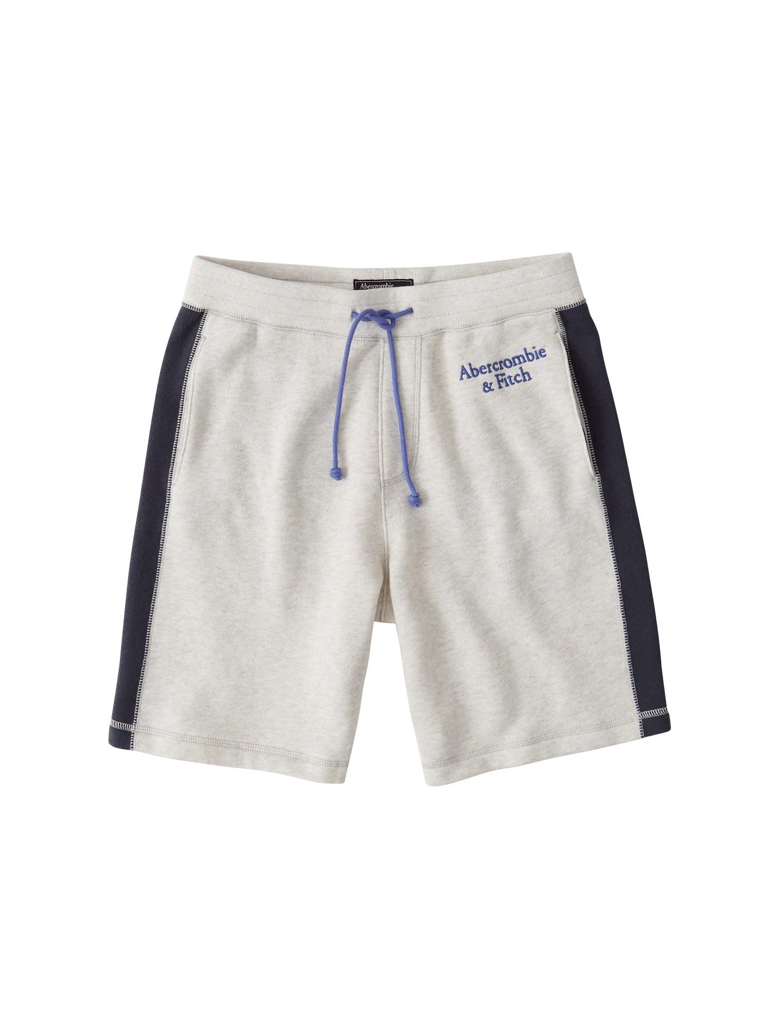 Kalhoty světle šedá Abercrombie & Fitch