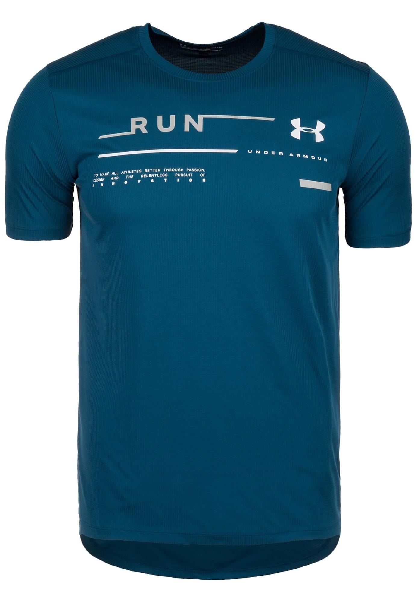 Laufshirt 'Run Graphic' | Sportbekleidung > Sportshirts > Laufshirts | Blau - Weiß | Under Armour