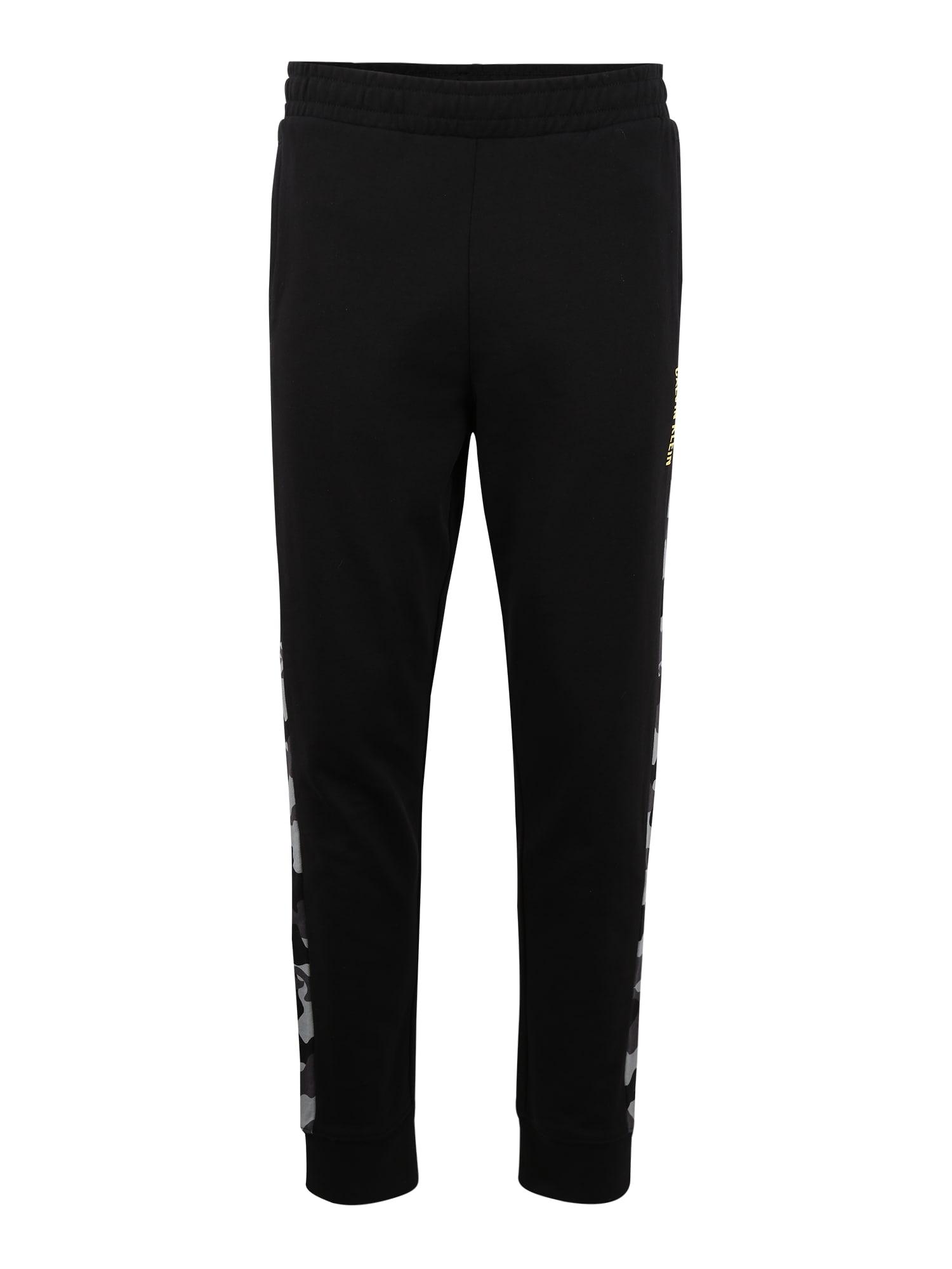 Calvin Klein Performance Sportovní kalhoty 'Knit Pants'  šedá / černá