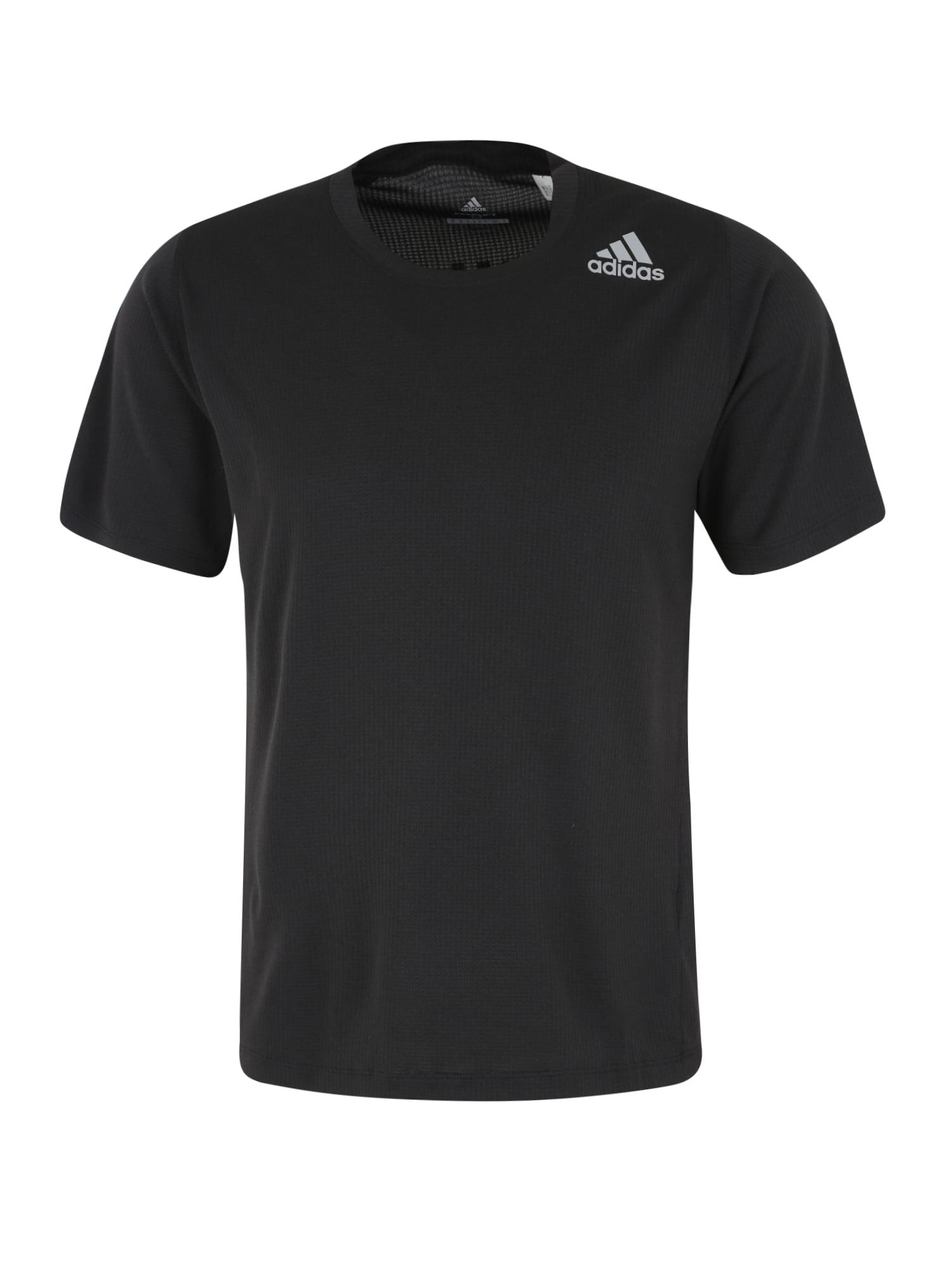 Funkční tričko stříbrně šedá černá ADIDAS PERFORMANCE