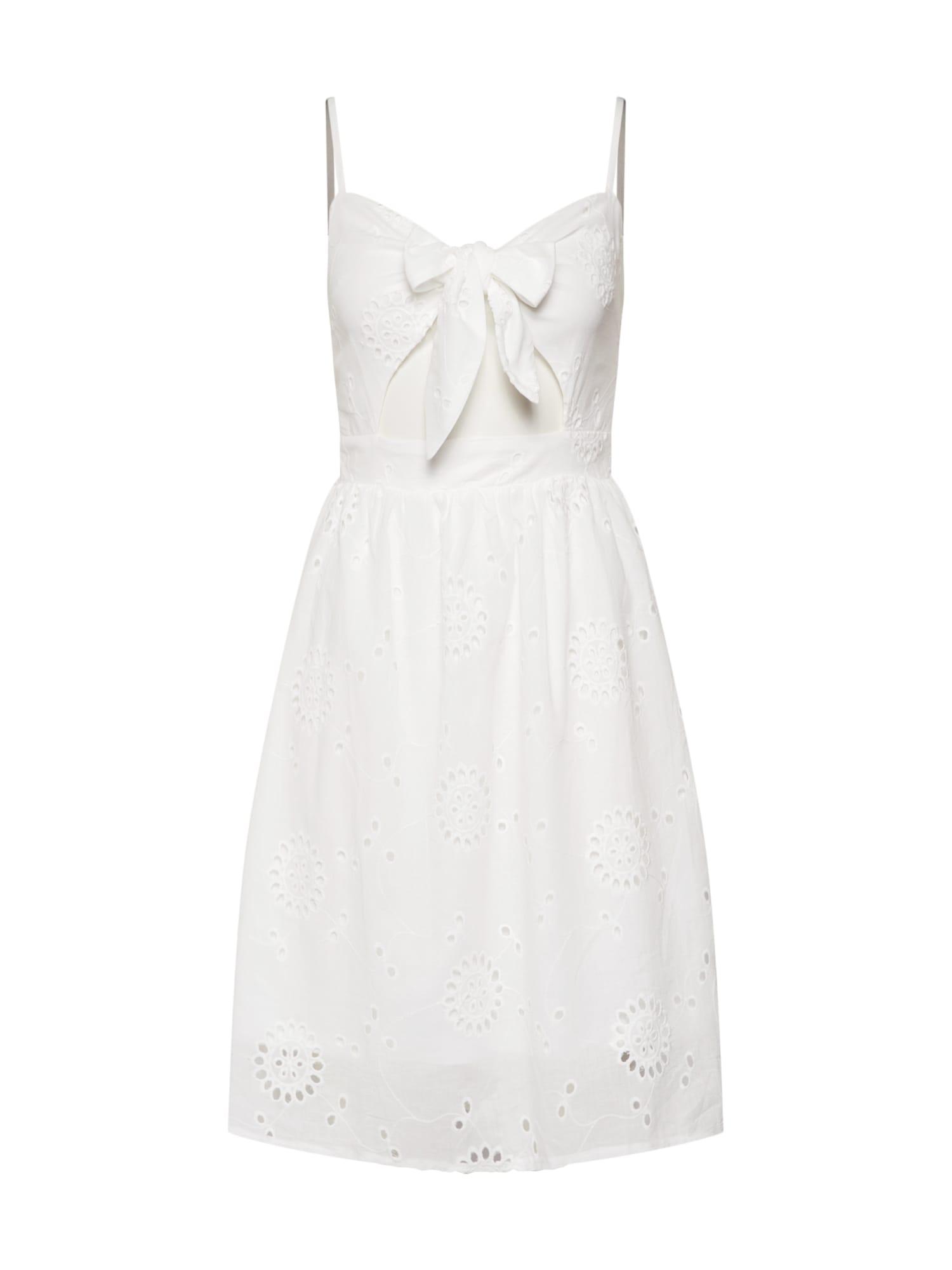 Sommerkleid 'Tie Front Broderie' | Bekleidung > Kleider > Sommerkleider | Missguided
