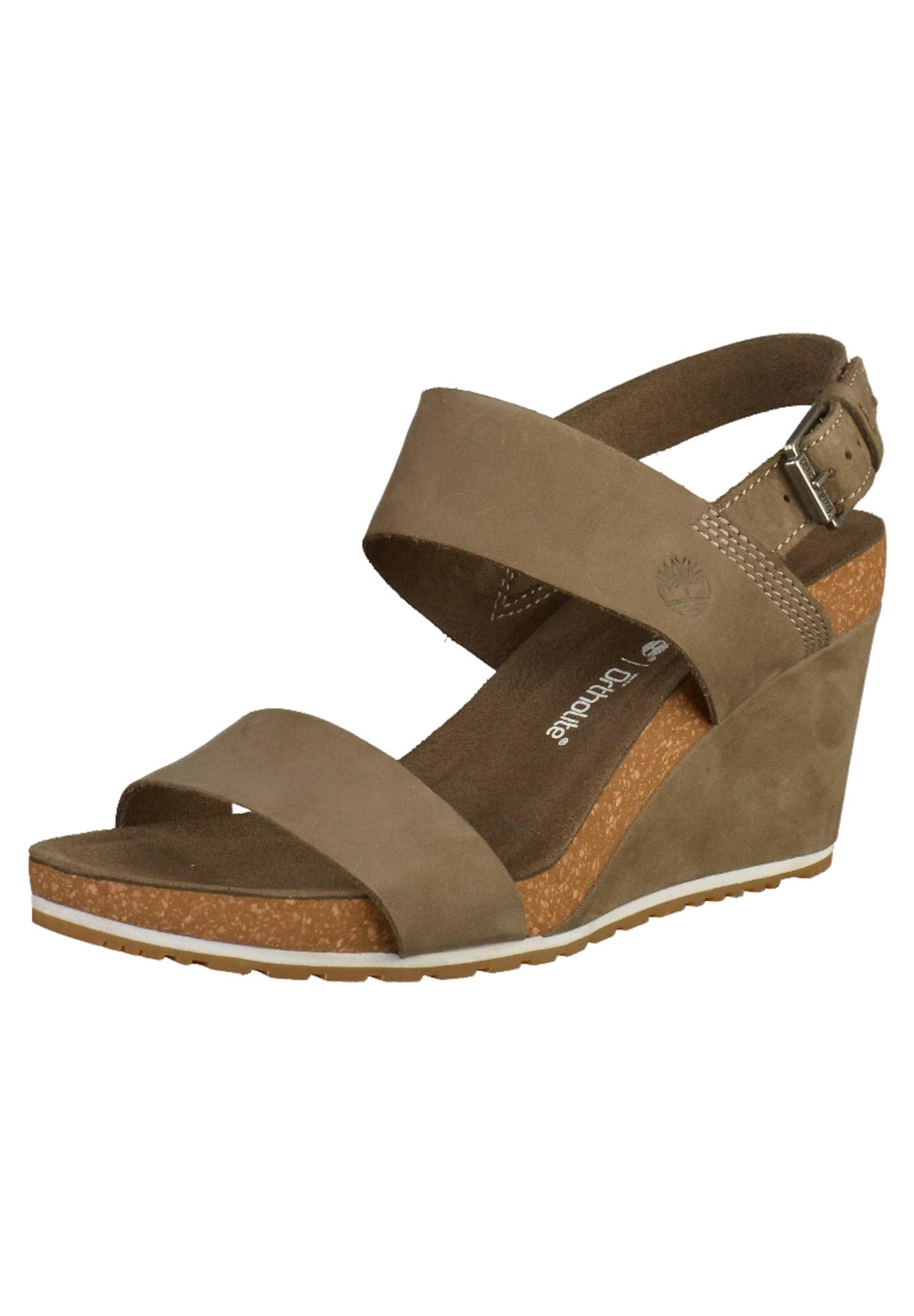 TIMBERLAND Remienkové sandále  hnedé