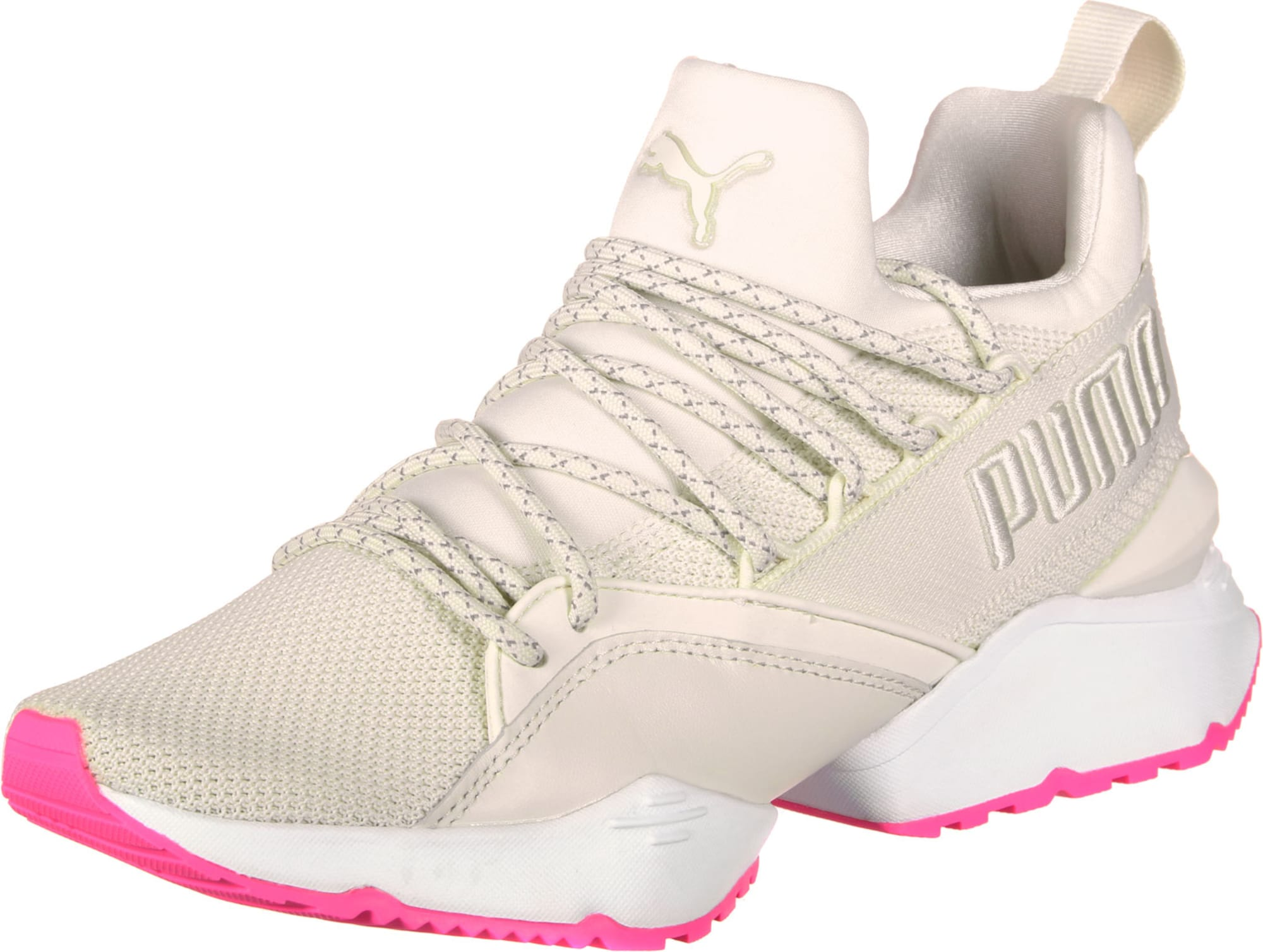 PUMA, Dames Sneakers laag 'Muse Maia Up W', pink / wit