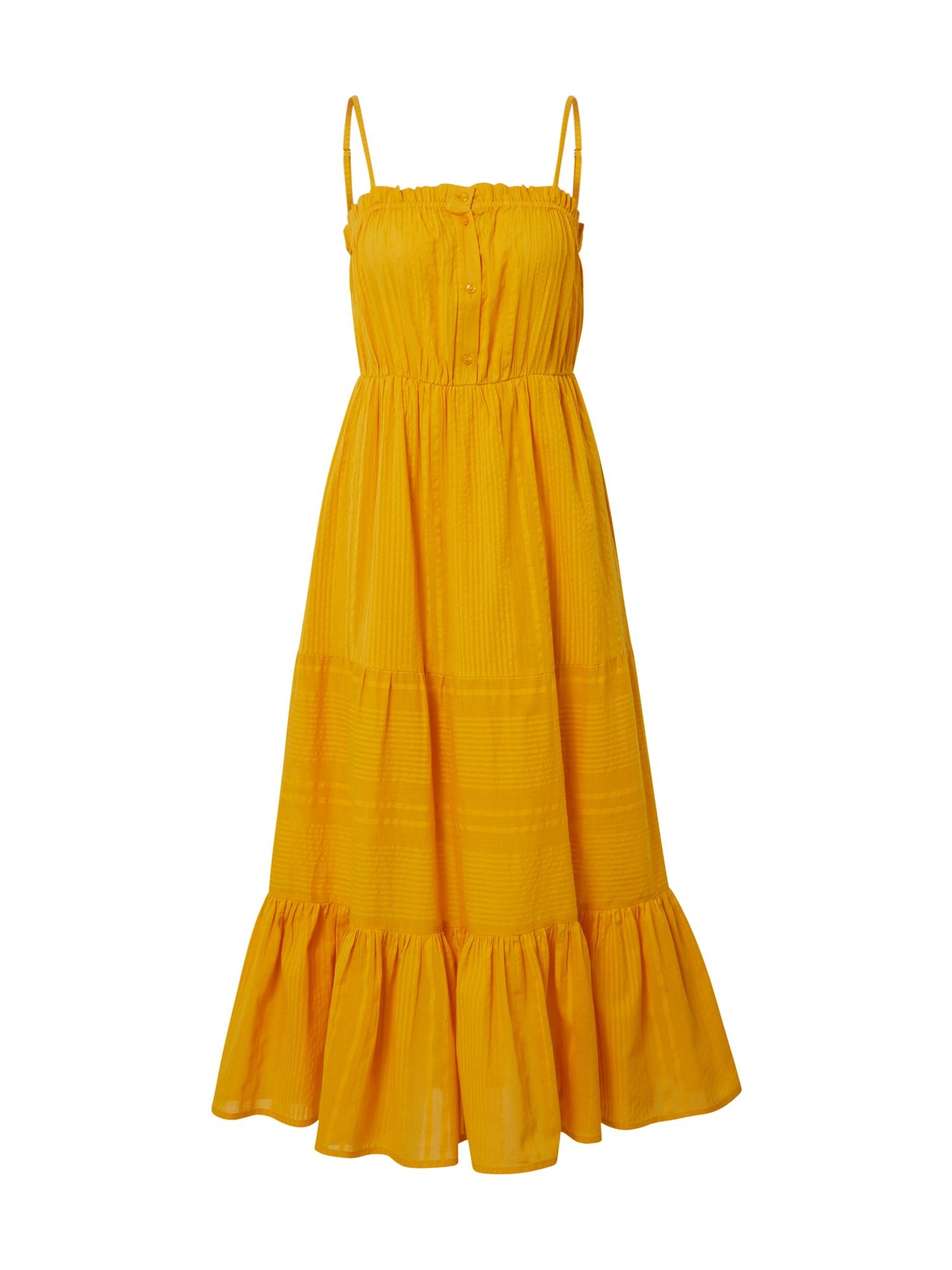 Y.A.S Letní šaty  zlatě žlutá
