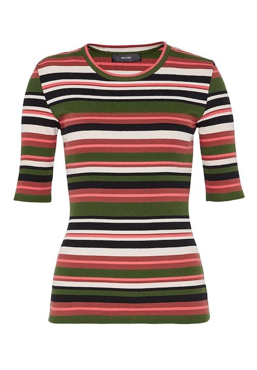 Streifen-T-Shirt mit Rippenstruktur