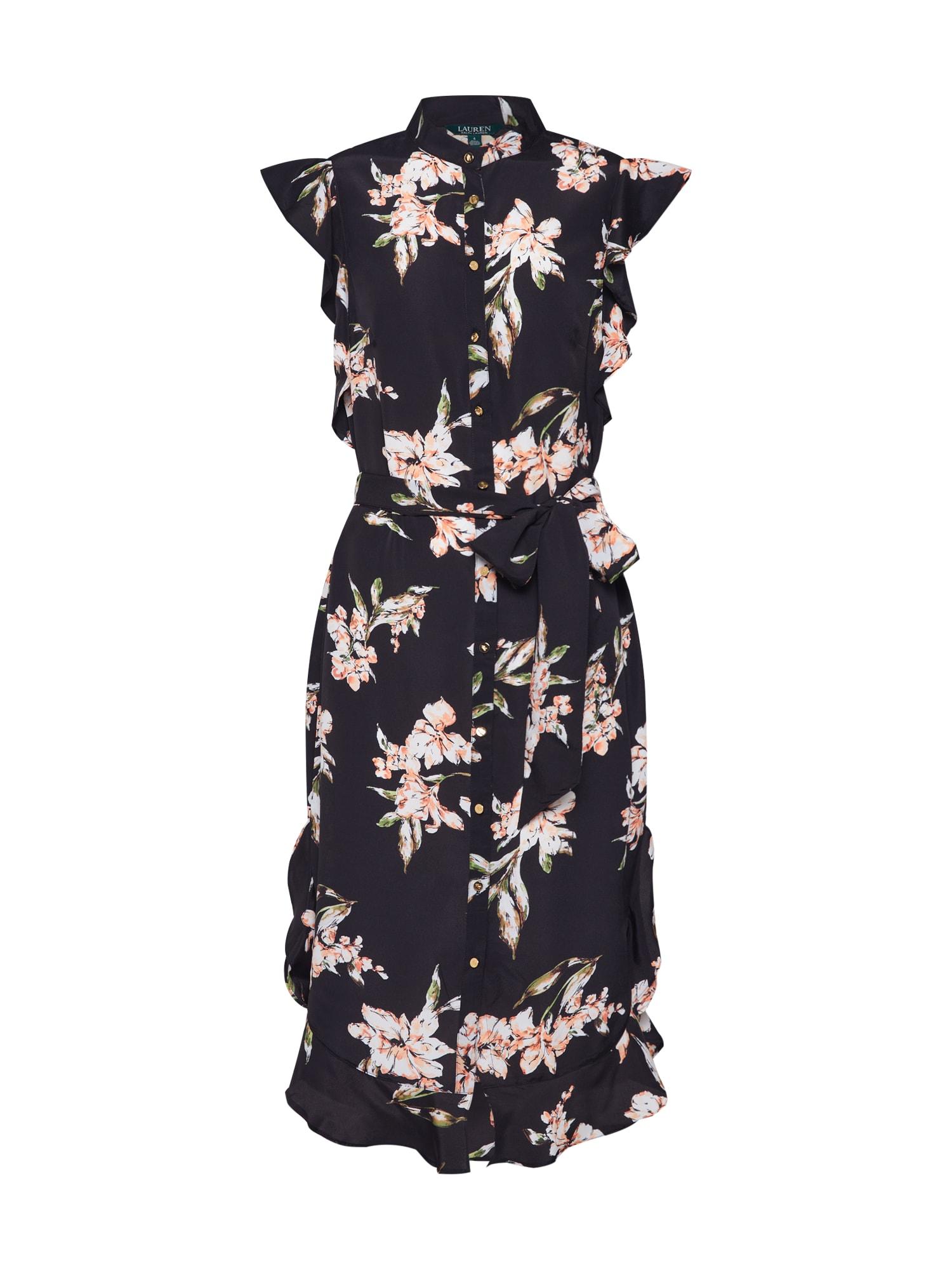 Košilové šaty WINDELLE černá Lauren Ralph Lauren