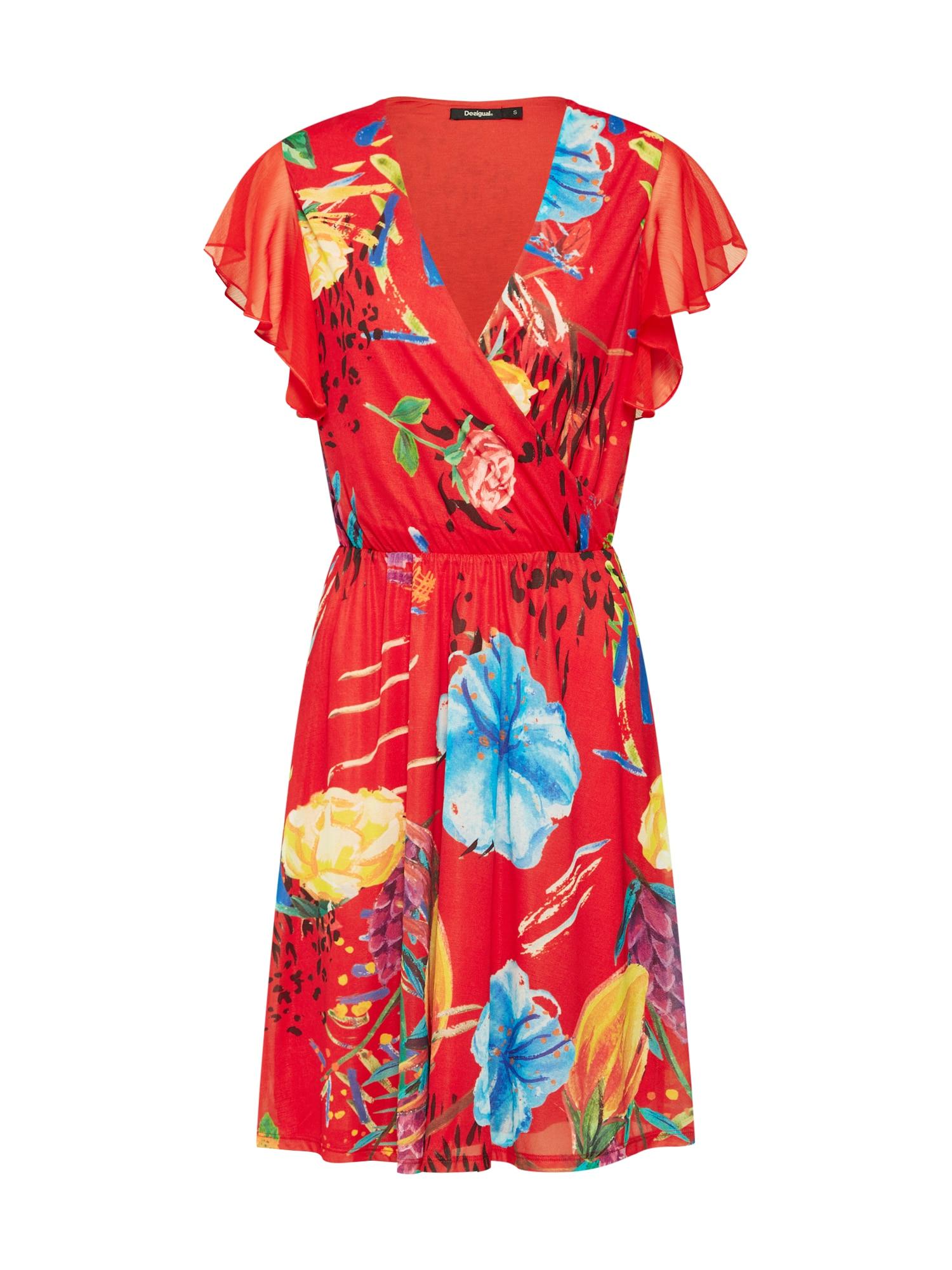 Šaty Vest_Miranda mix barev červená Desigual