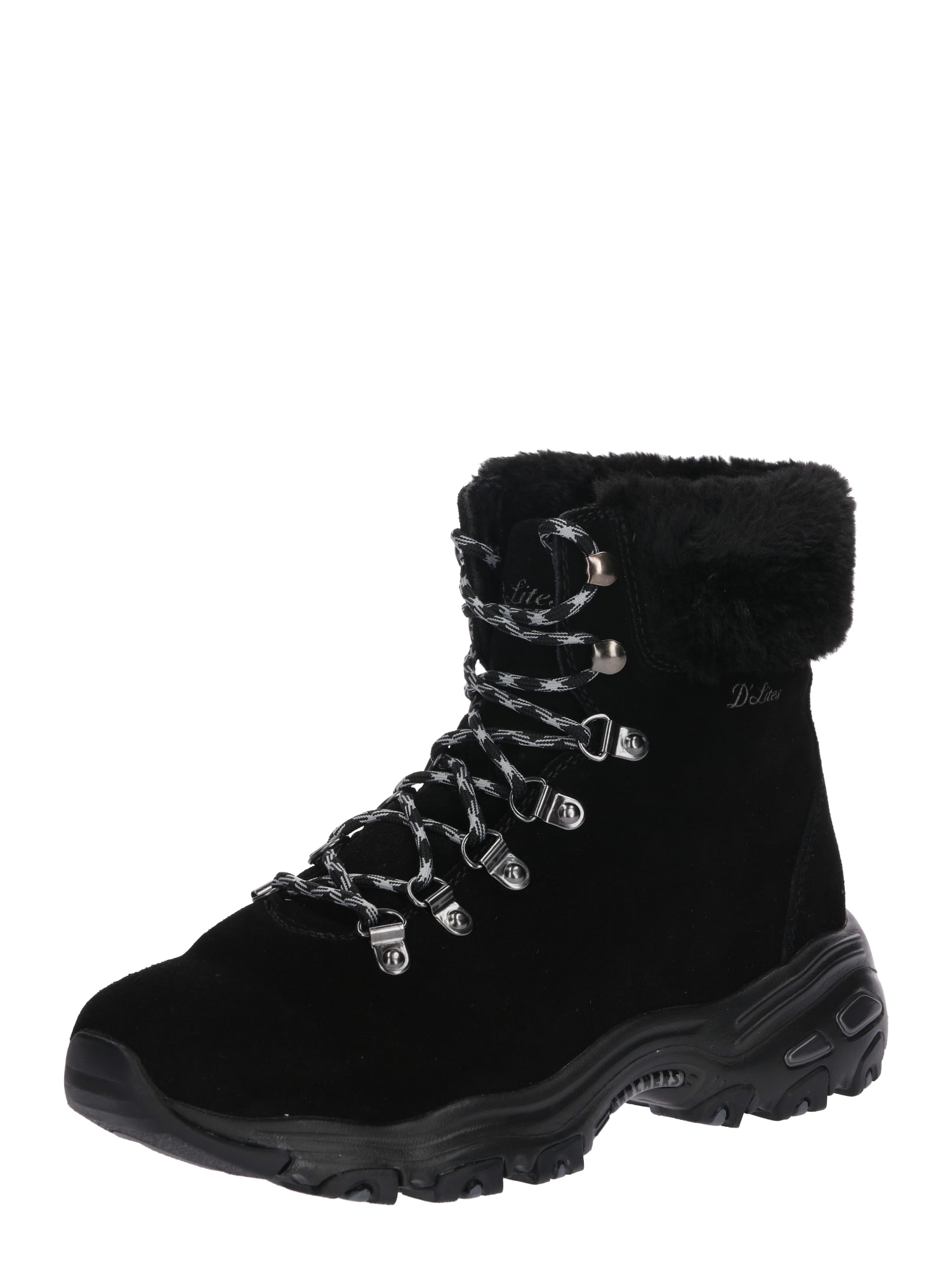 SKECHERS, Dames Snowboots 'D'LITES', zwart