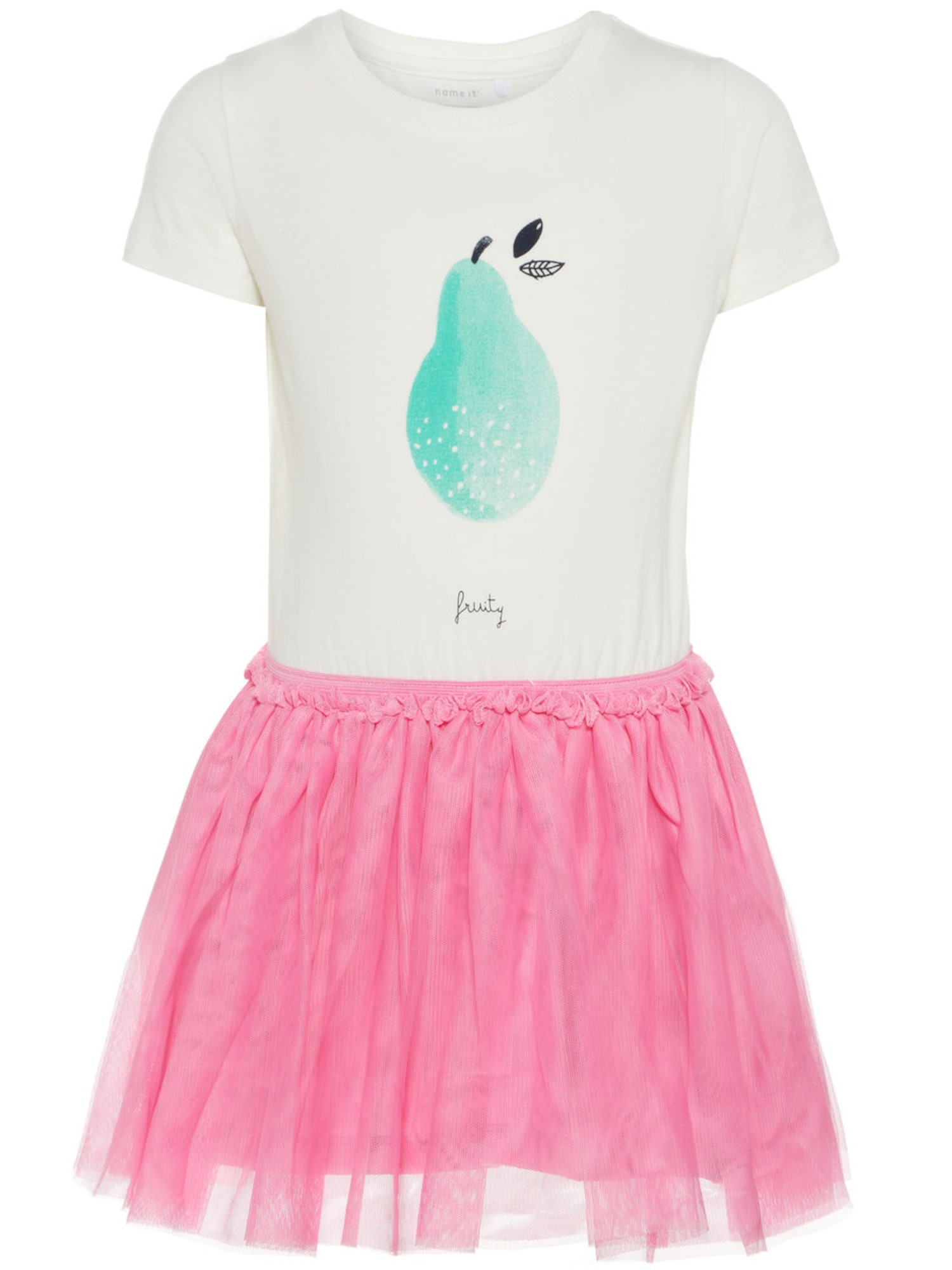 Name it Meisjes Jurk turquoise / pink / wit