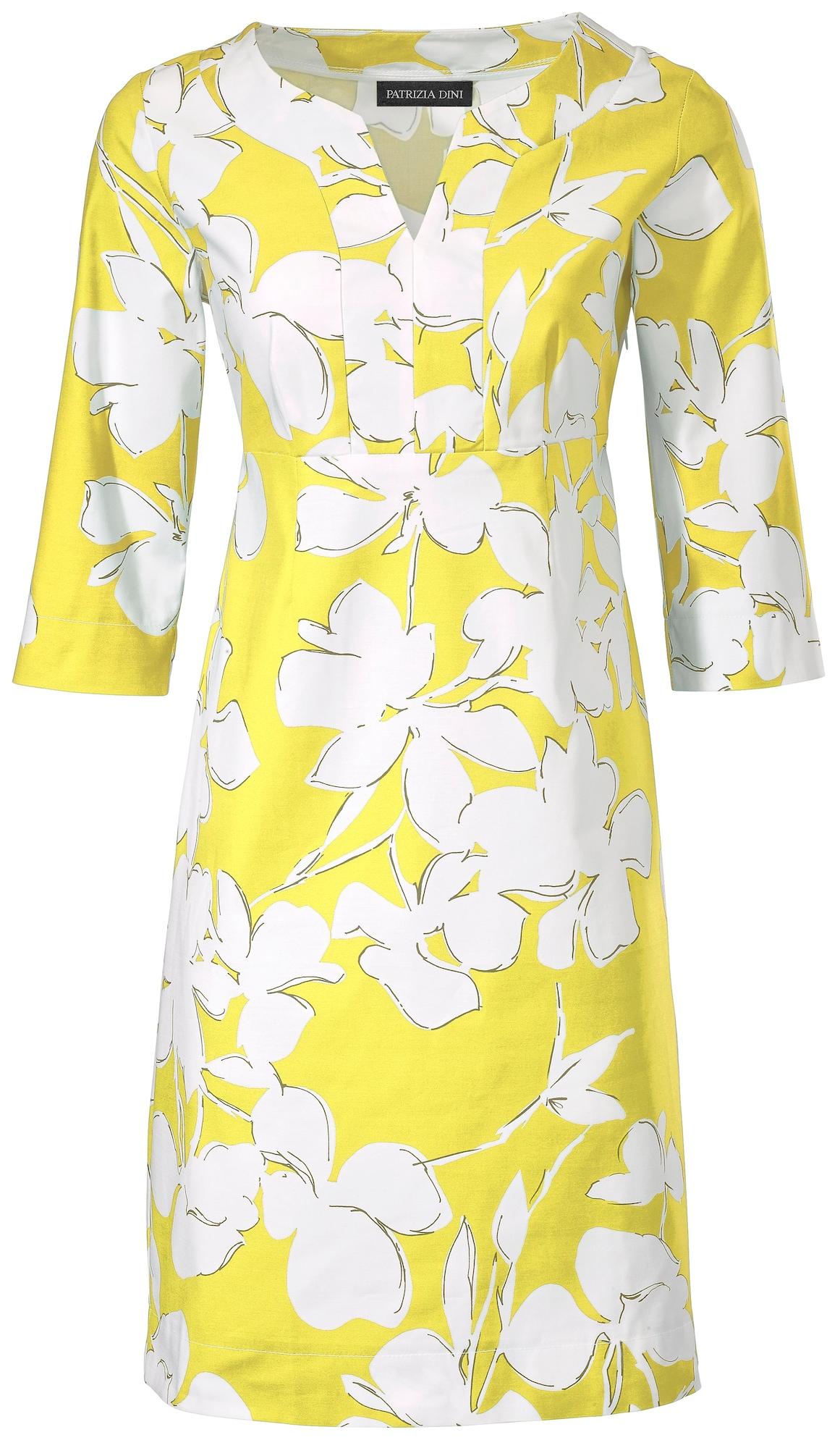 Druckkleid | Bekleidung > Kleider > Druckkleider | Gelb - Schwarz - Weiß | heine