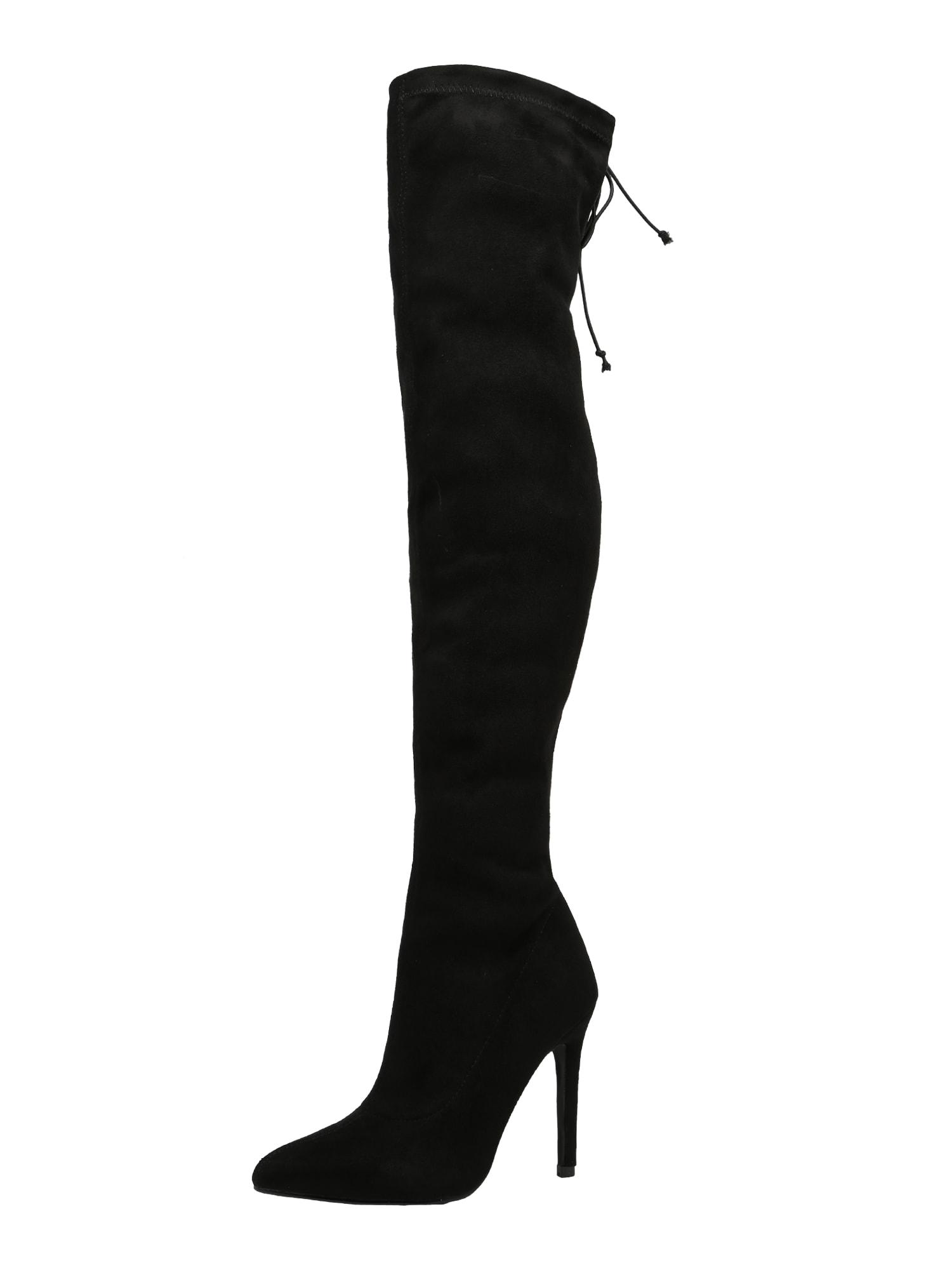 4th & Reckless, Dames Overknee laarzen 'MOLLY', zwart