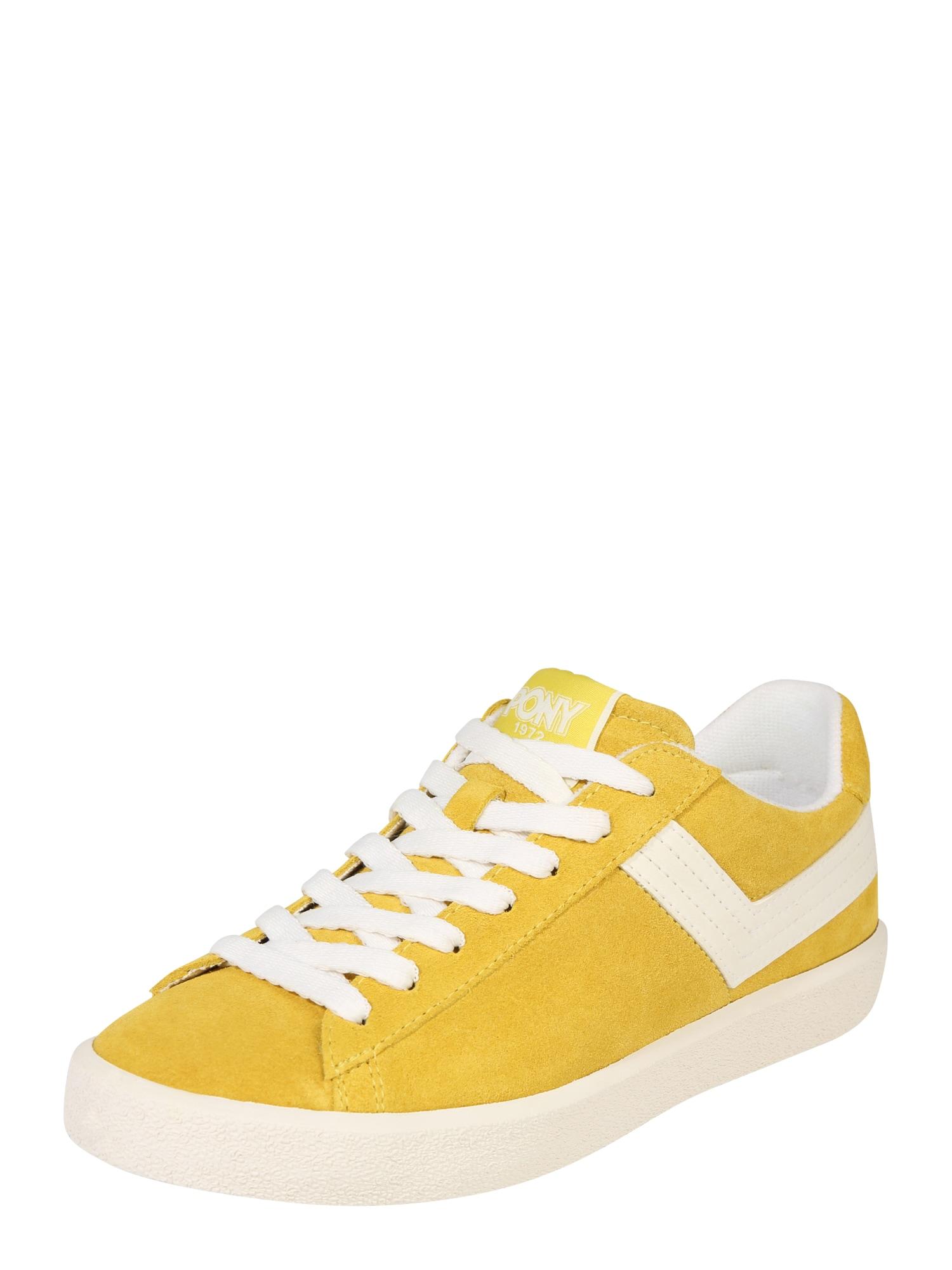 Tenisky TOP STAR žlutá bílá PONY
