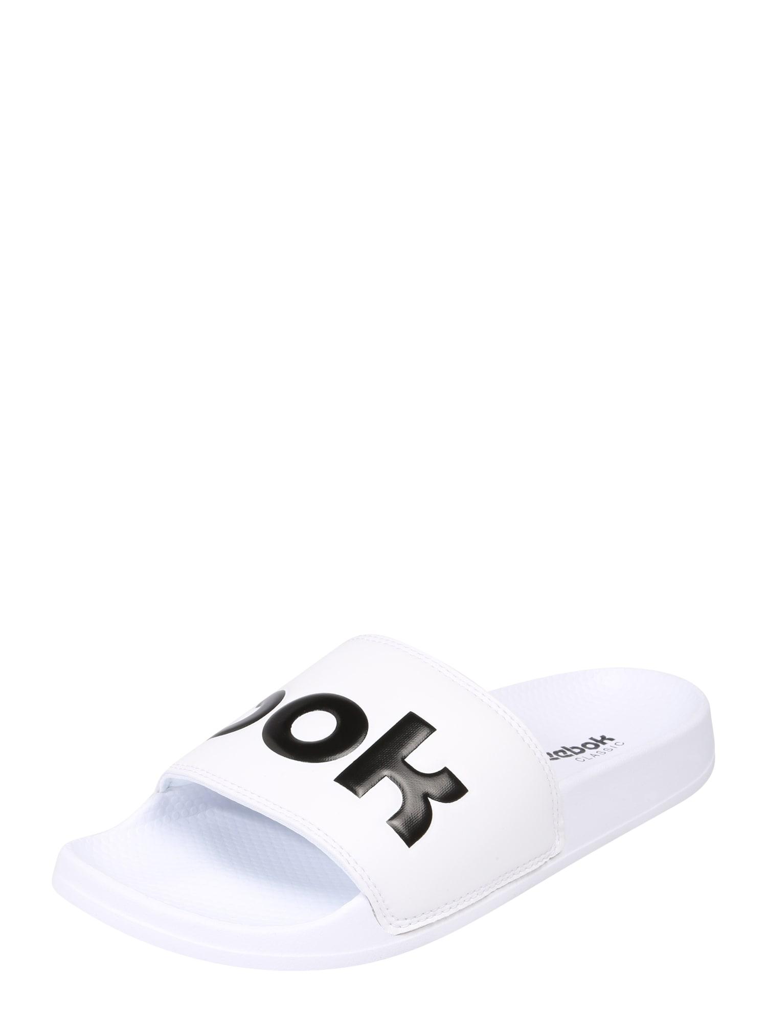 Reebok Classic Pantofle 'CLASSIC SLIDE'  černá / bílá
