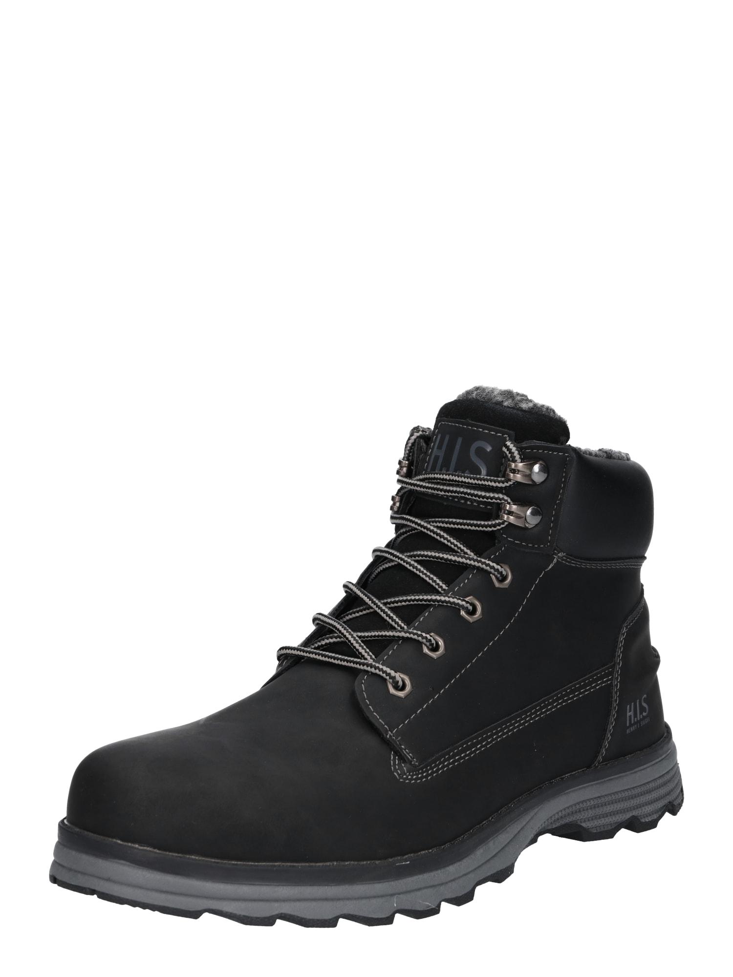 Šněrovací boty šedá černá H.I.S