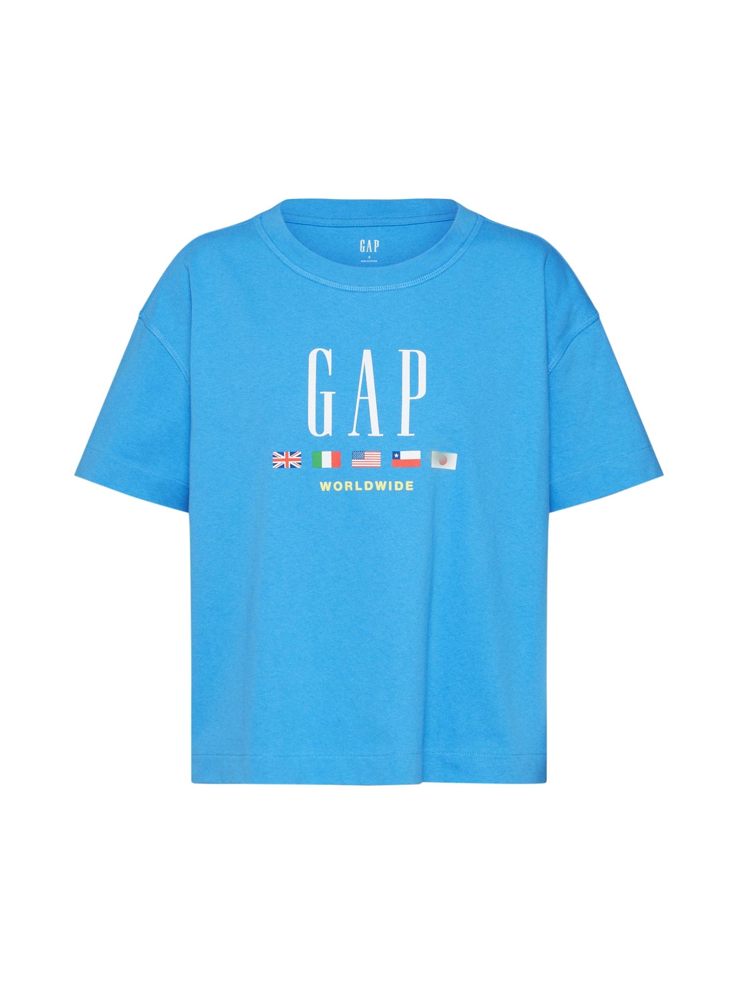 GAP Tričko 'WORLDWIDE SS TEE'  královská modrá