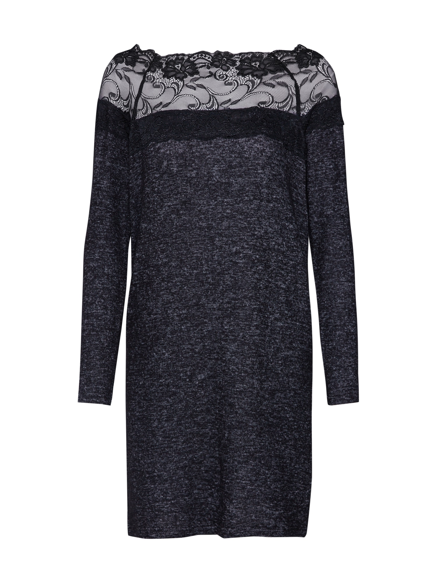 Úpletové šaty CIMA tmavě šedá černá VERO MODA