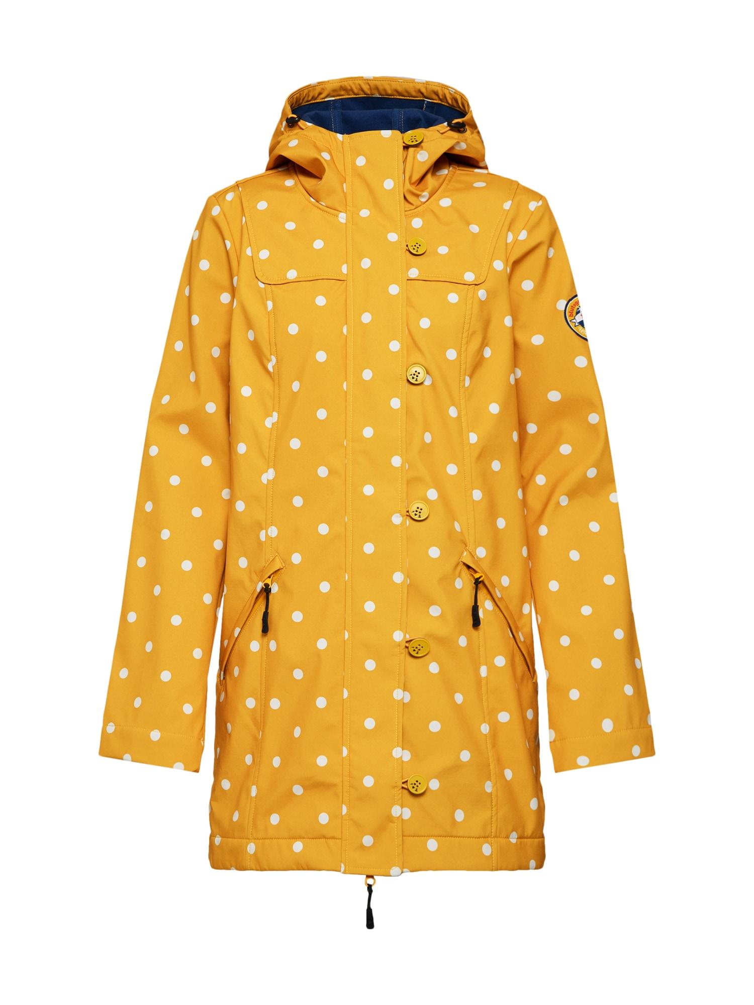 Funkční kabát Wild Weather zlatě žlutá bílá Blutsgeschwister