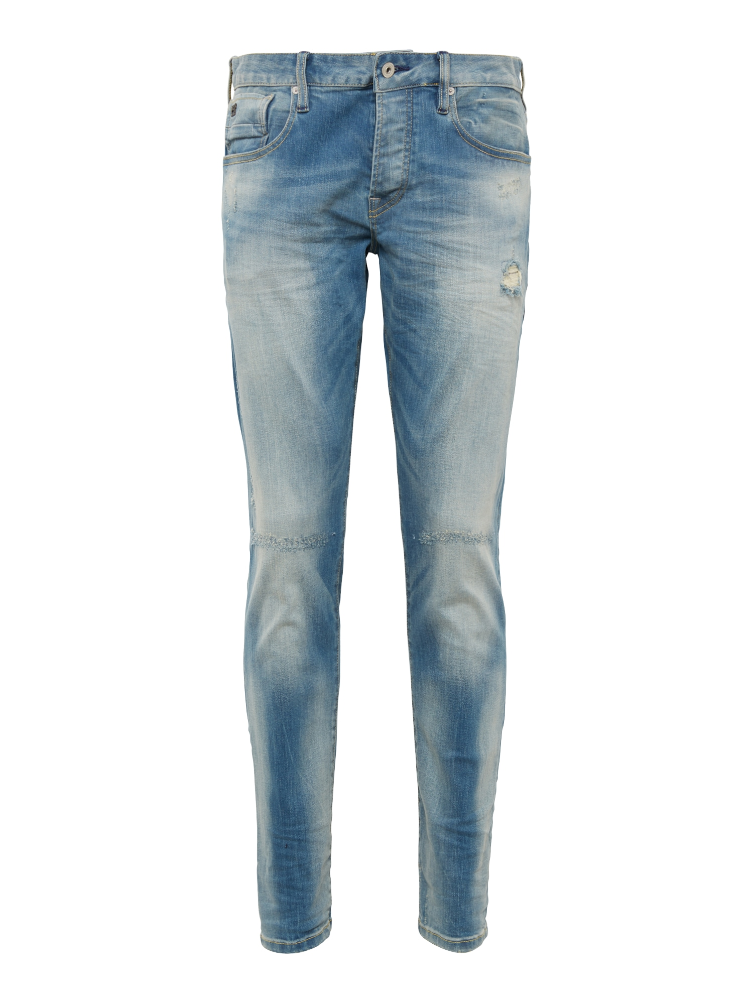 SCOTCH  and  SODA Heren Jeans Ralston Seaboots Repair blue denim