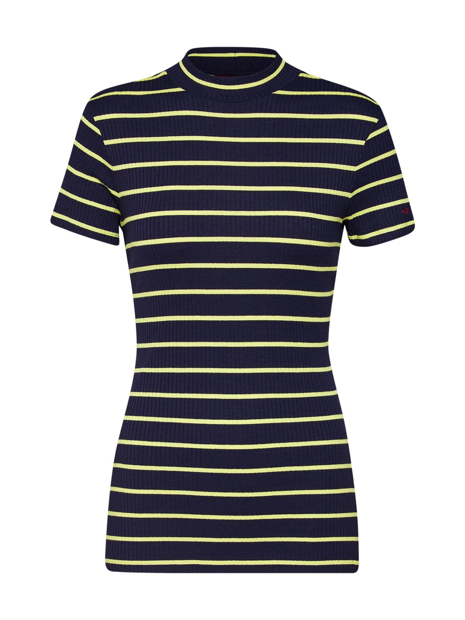 Tričko Daroline námořnická modř žlutá HUGO
