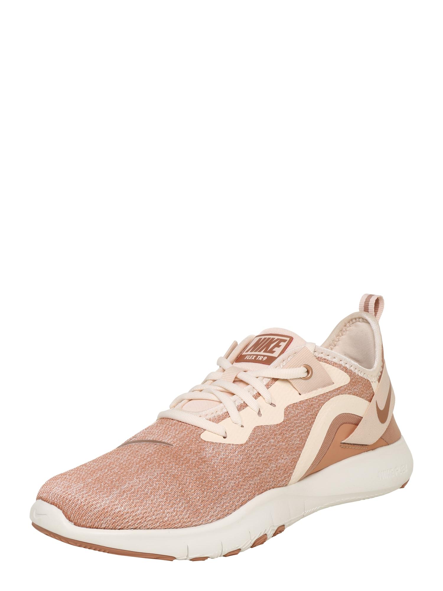 Sportovní boty Flex TR 9 Premium béžová hnědá NIKE