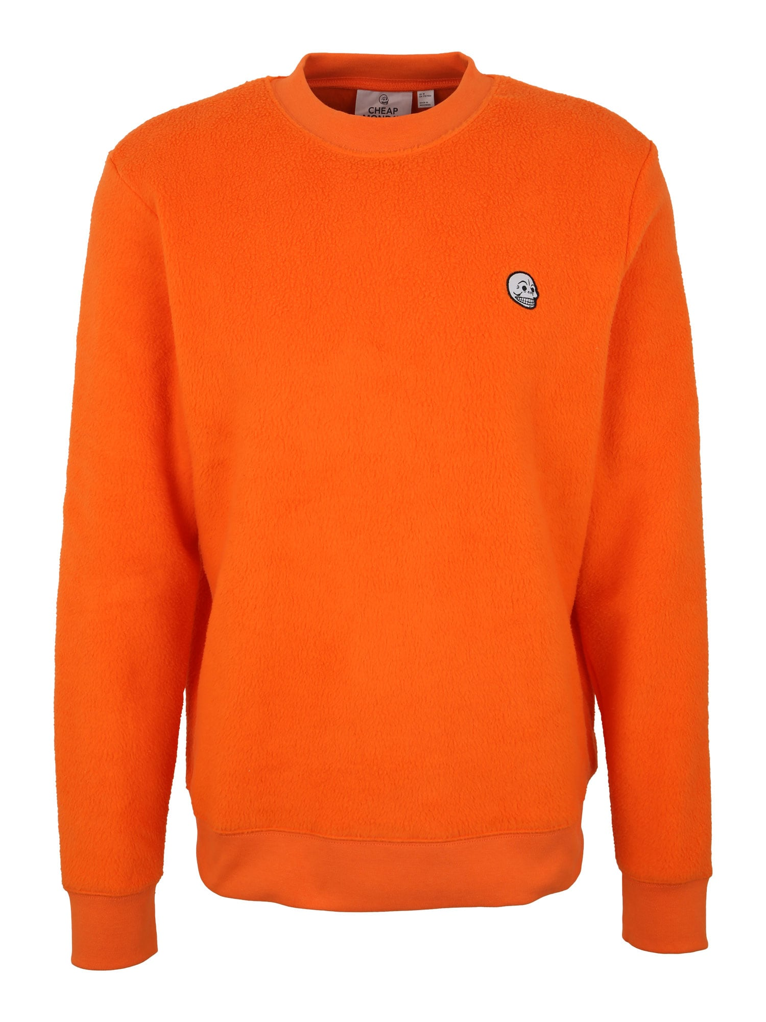 CHEAP MONDAY Heren Sweatshirt Worth polar sinaasappel