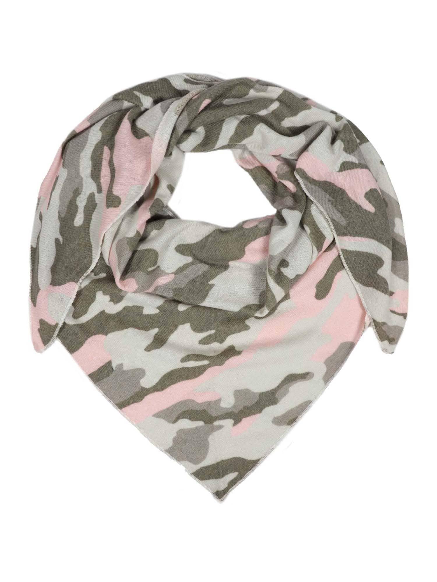 Zwillingsherz Šatka ' Camouflage '  ružová / zelená
