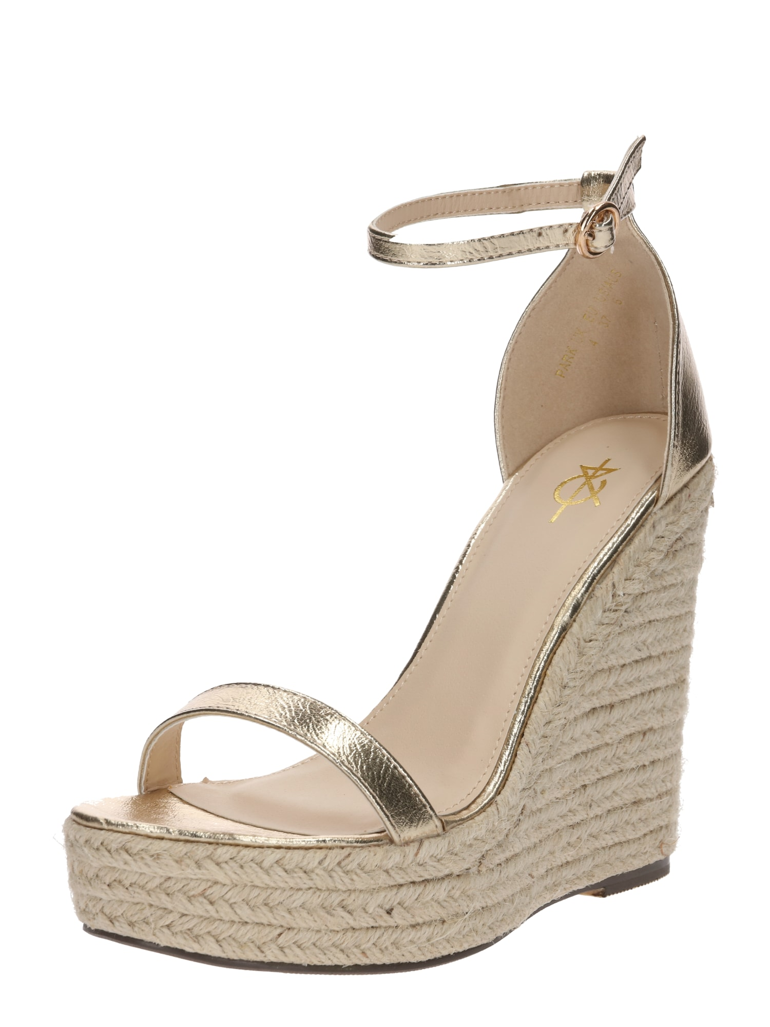 Páskové sandály zlatá 4th & Reckless
