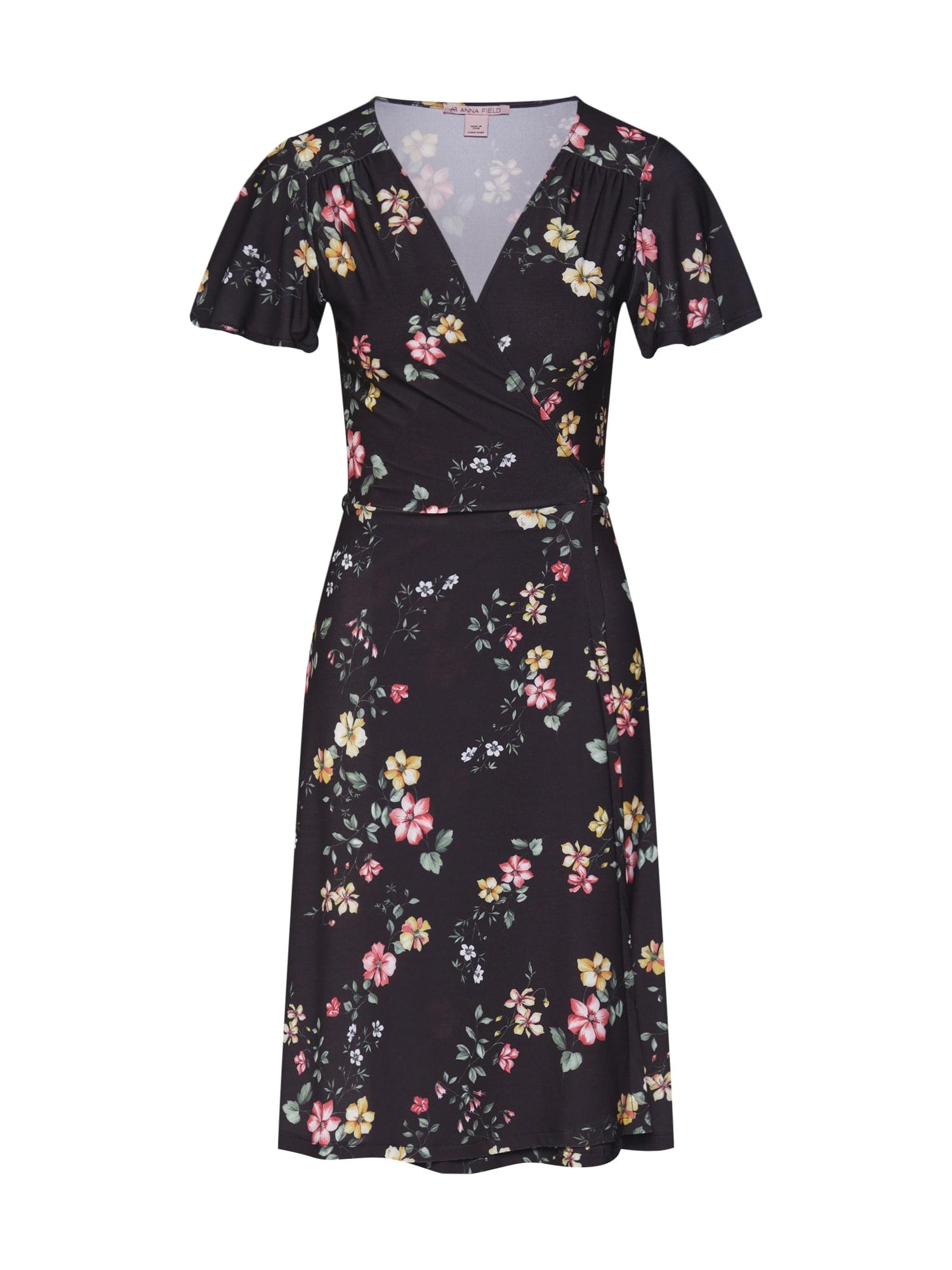 Letní šaty žlutá růžová černá Anna Field