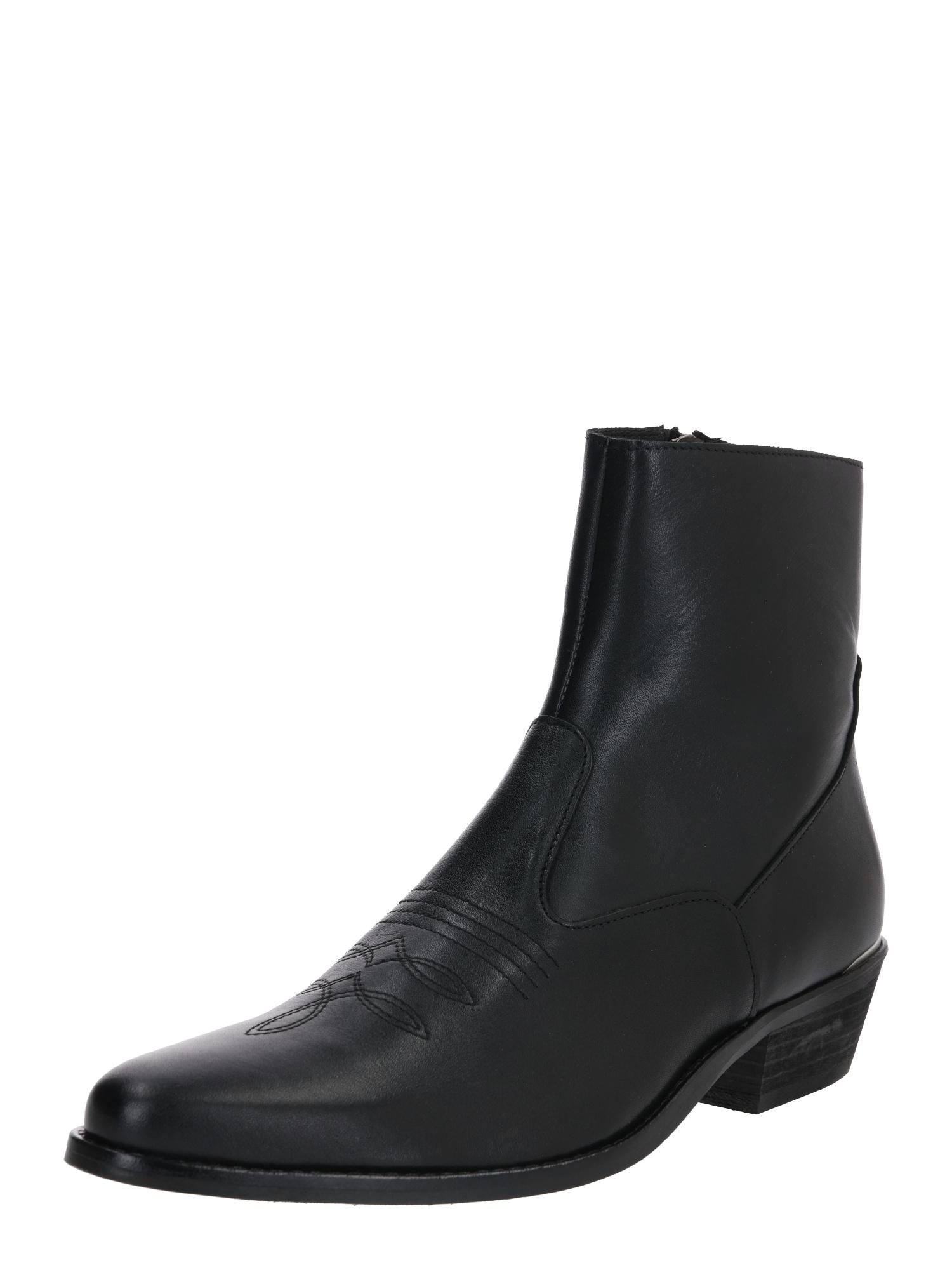 Shoe The Bear Kozačky 'ENZO L METAL EMB'  černá