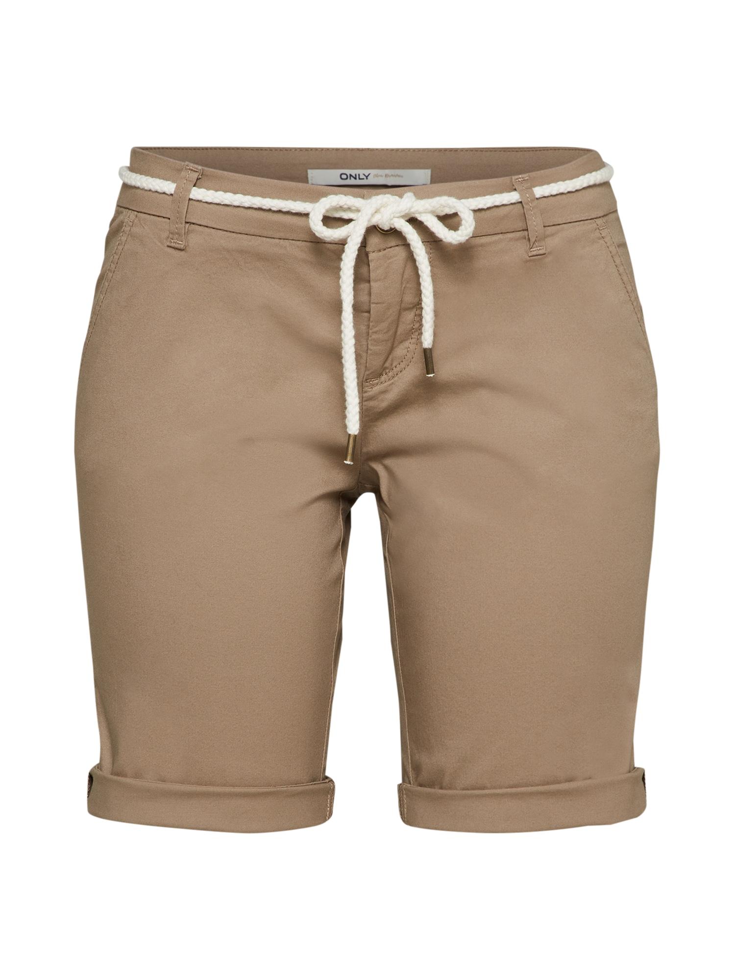 Kalhoty tmavě béžová ONLY