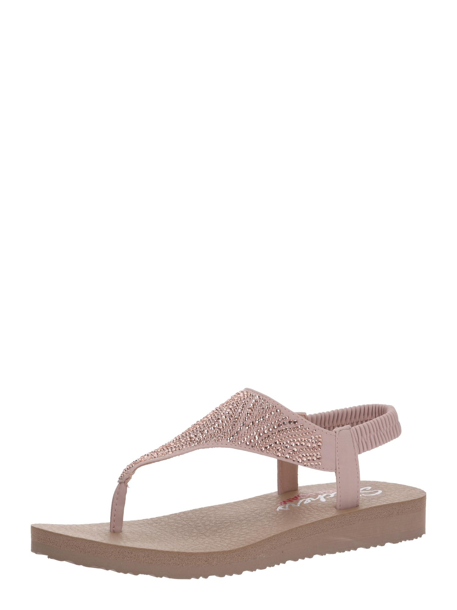 SKECHERS Remienkové sandále 'MEDITATION NEW MOON'  béžová / ružová