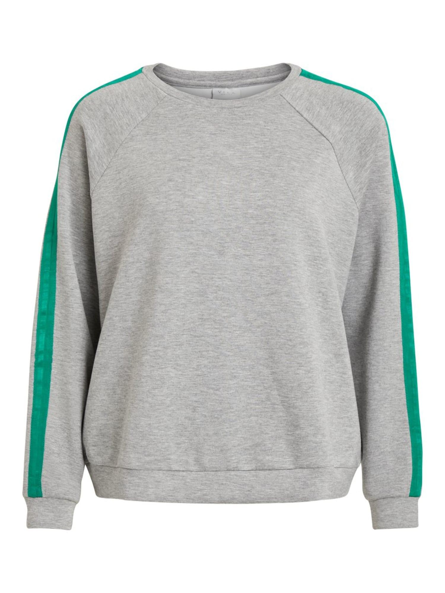 VILA, Dames Sweatshirt, grijs / jade groen