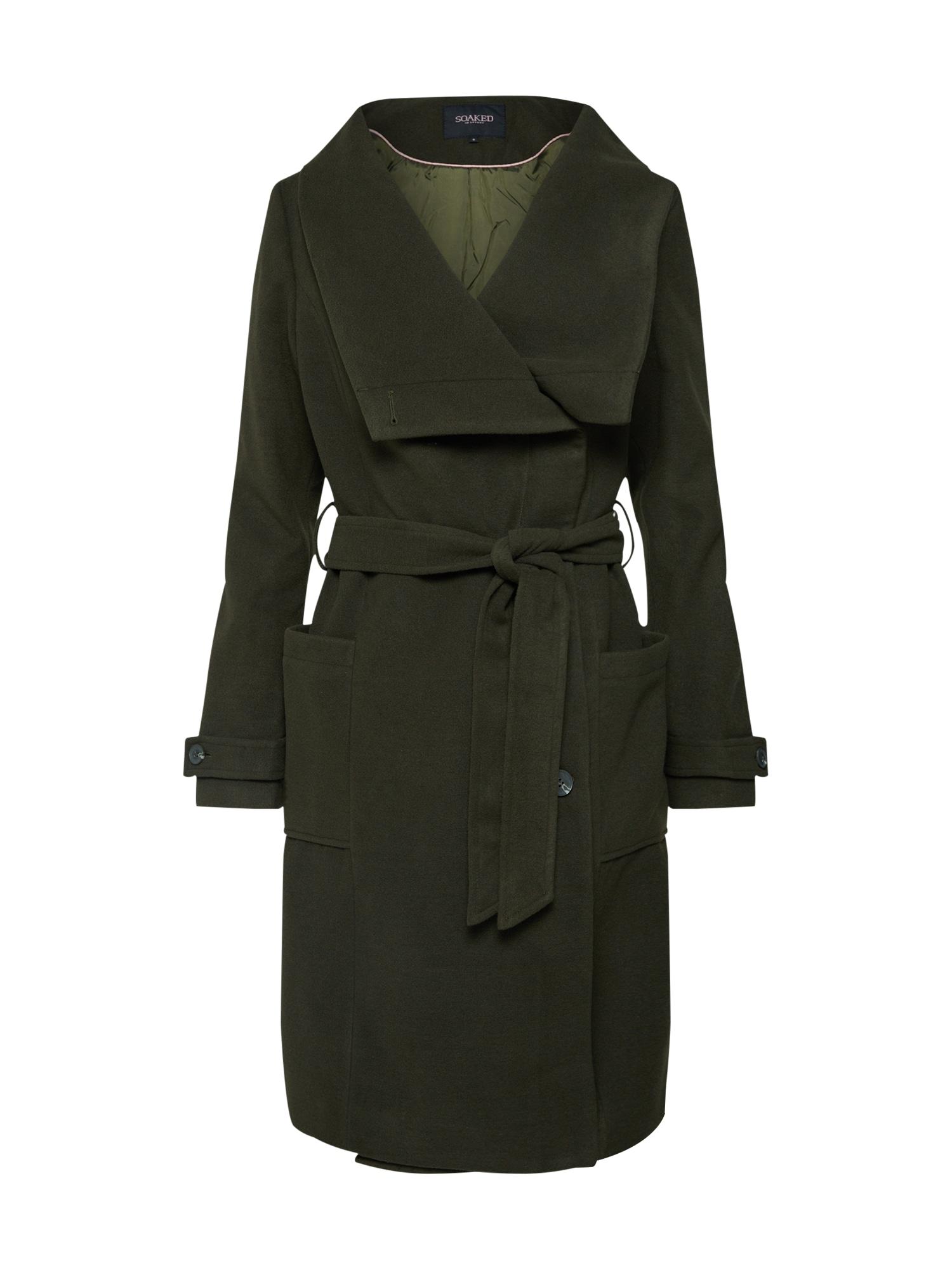 Přechodný kabát olivová SOAKED IN LUXURY
