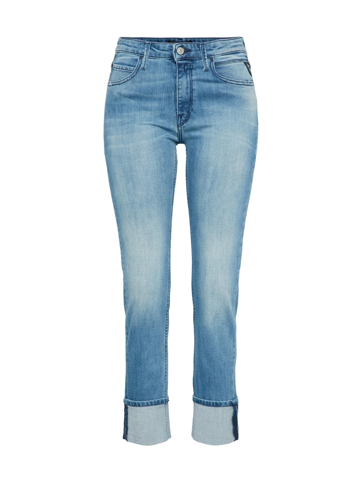 REPLAY Dames Jeans Jengre blauw denim