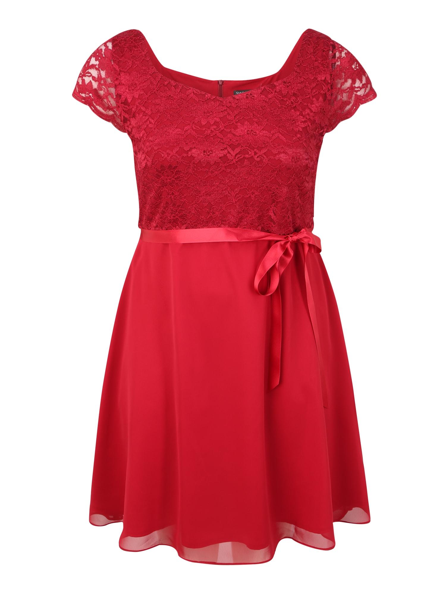 SWING Curve Koktejlové šaty  červená