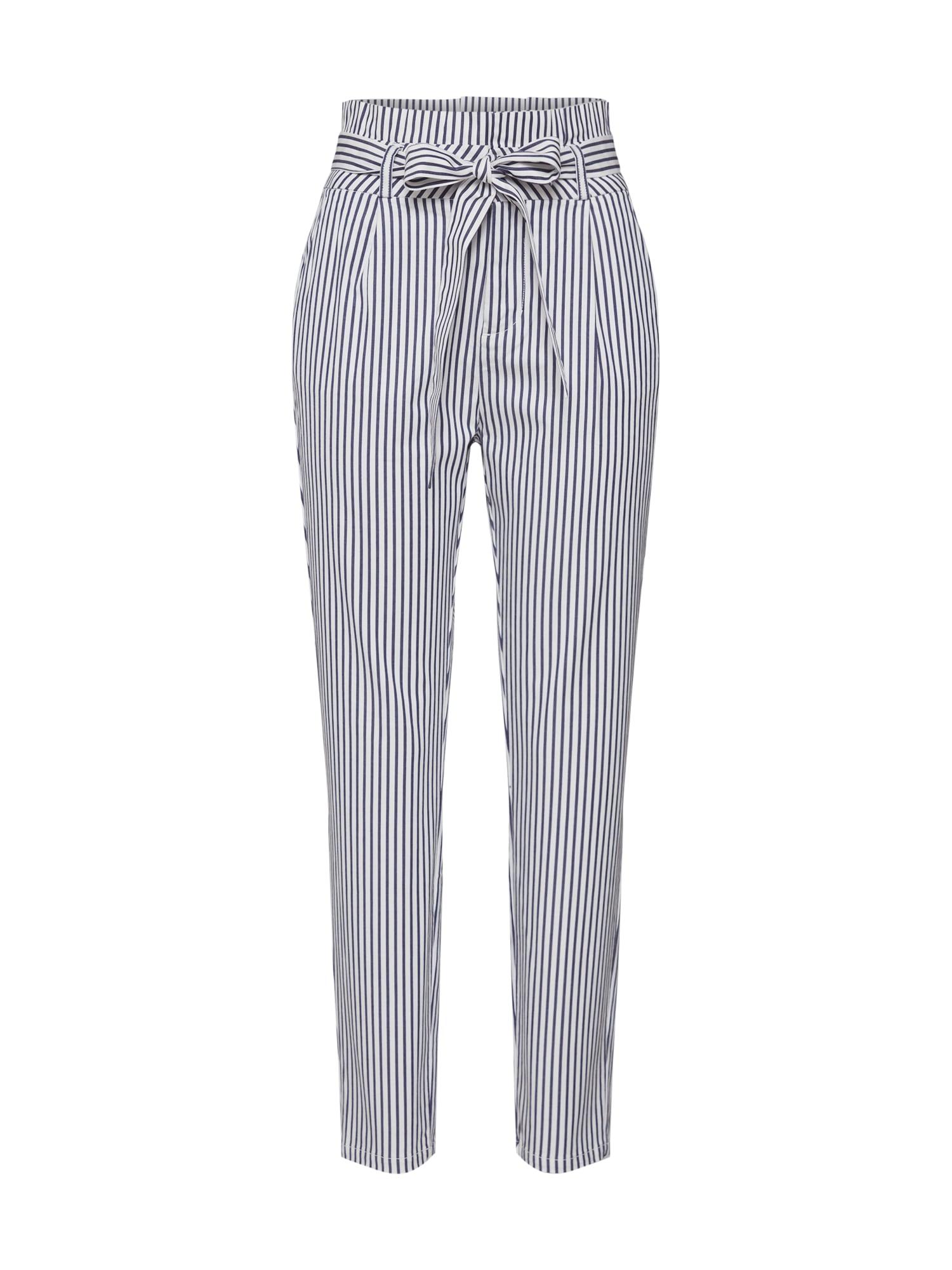 Kalhoty Vmeva modrá bílá VERO MODA