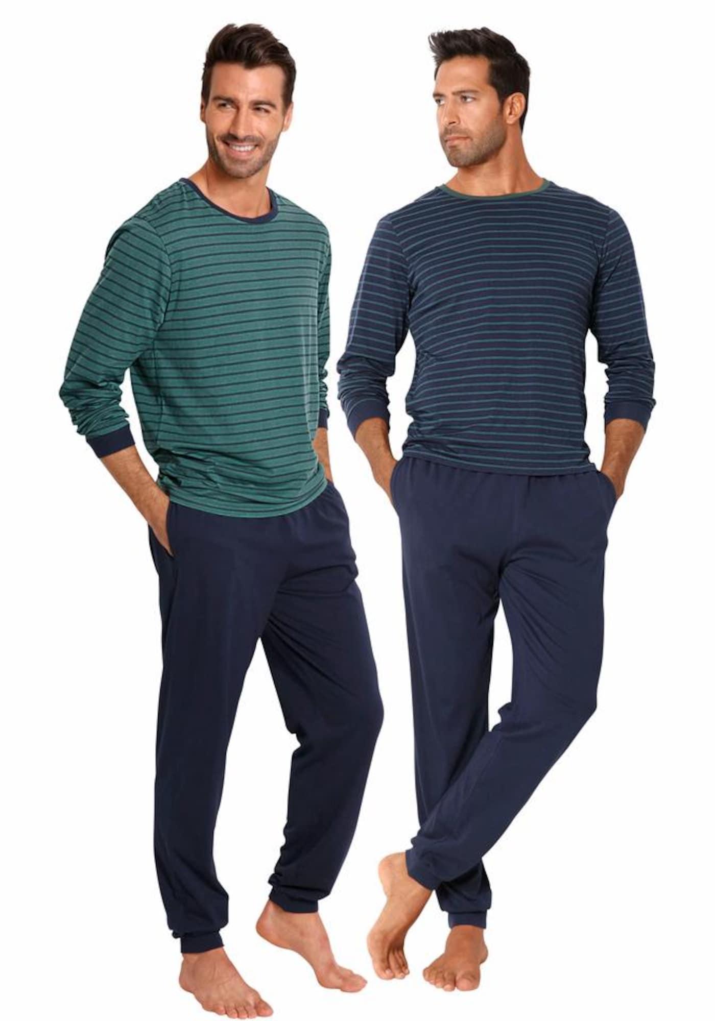 Herren Pyjamas lang | Bekleidung > Wäsche > Nachtwäsche | Petrol | LE JOGGER