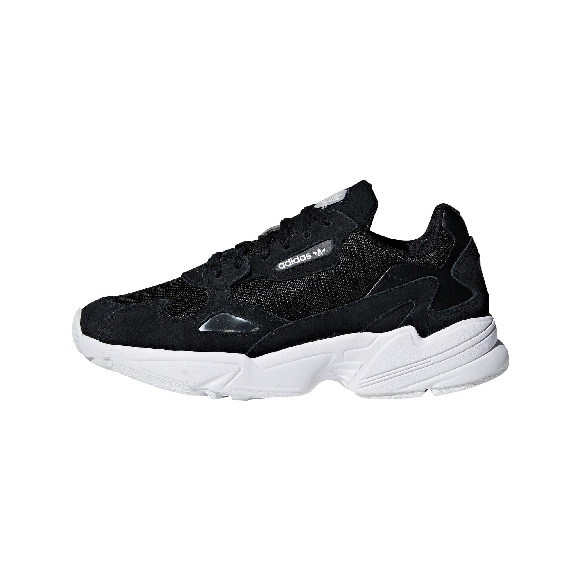 ADIDAS ORIGINALS, Dames Sneakers laag 'Falcon', zwart