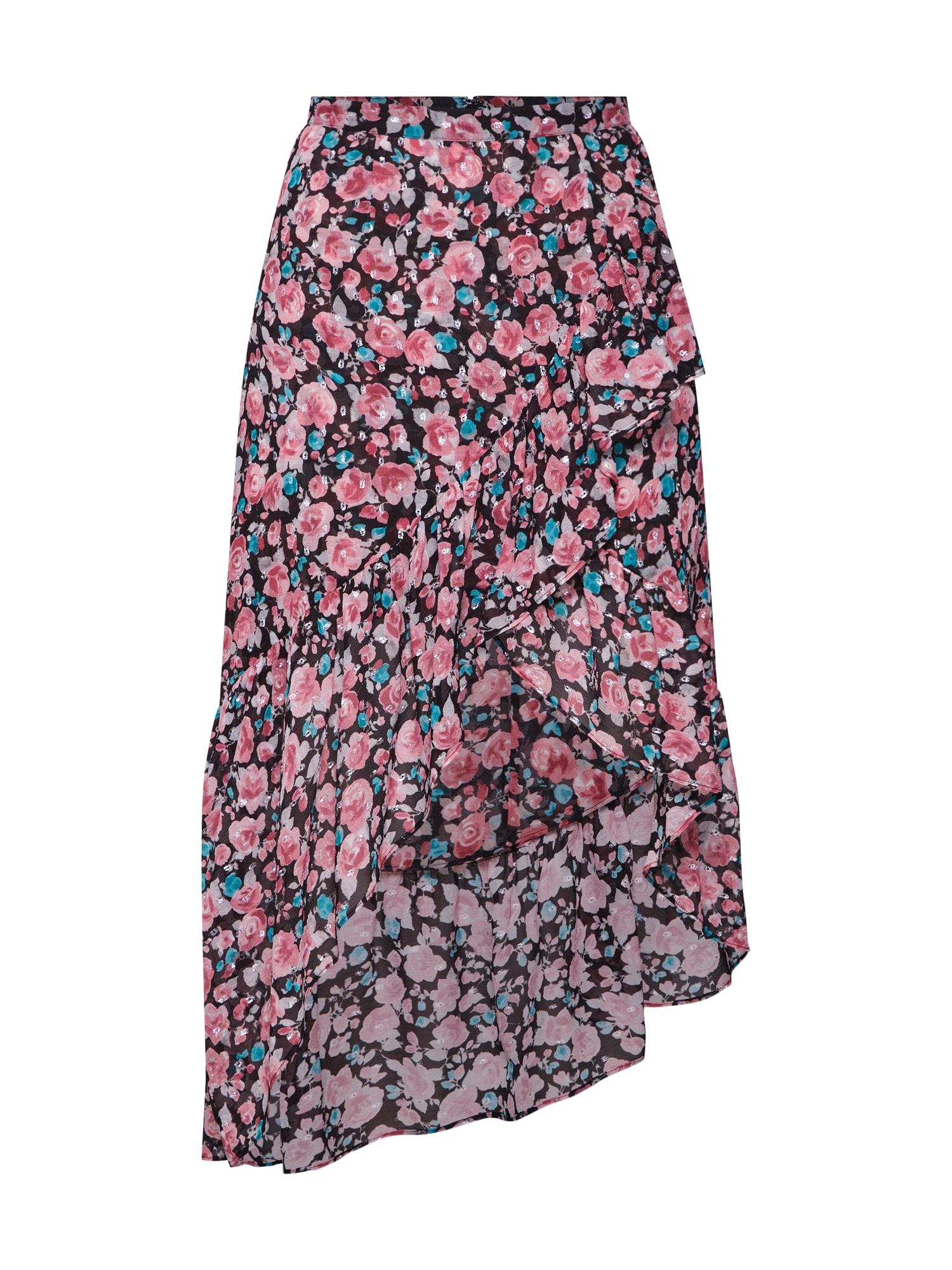 Sukně FJUP18026K růžová černá The Kooples