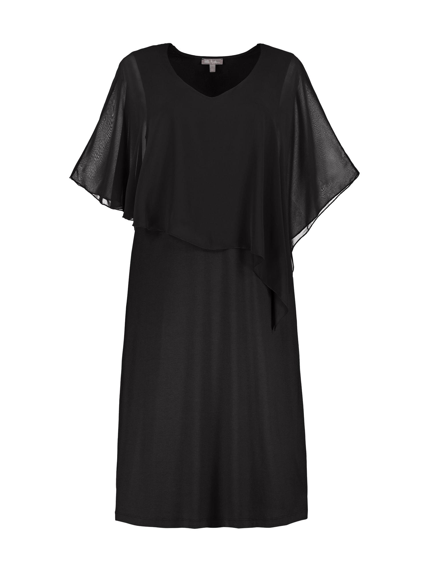 Koktejlové šaty Chiffon černá Ulla Popken