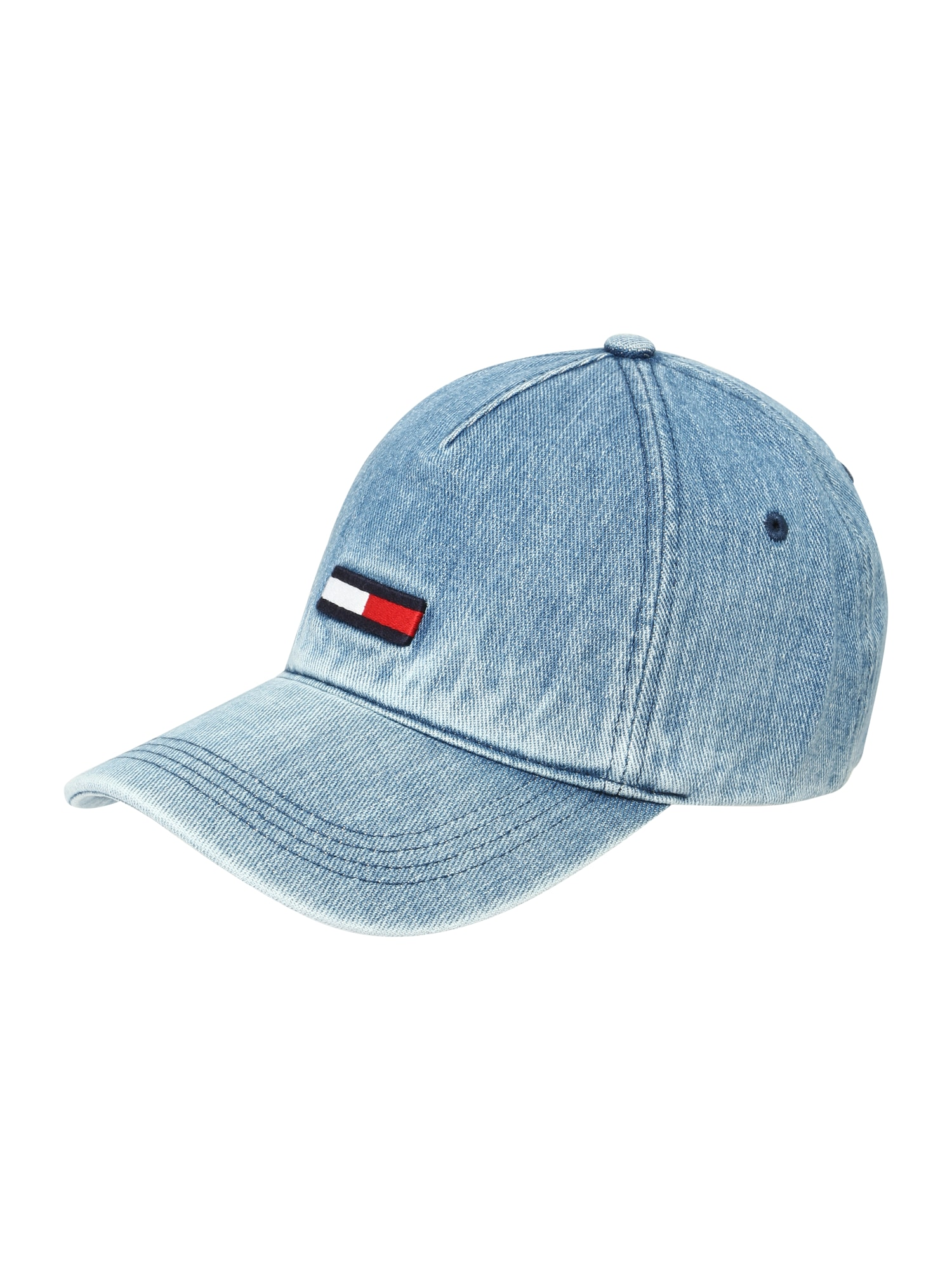 Čepice TJW FLAG CAP DENIM modrá džínovina Tommy Jeans