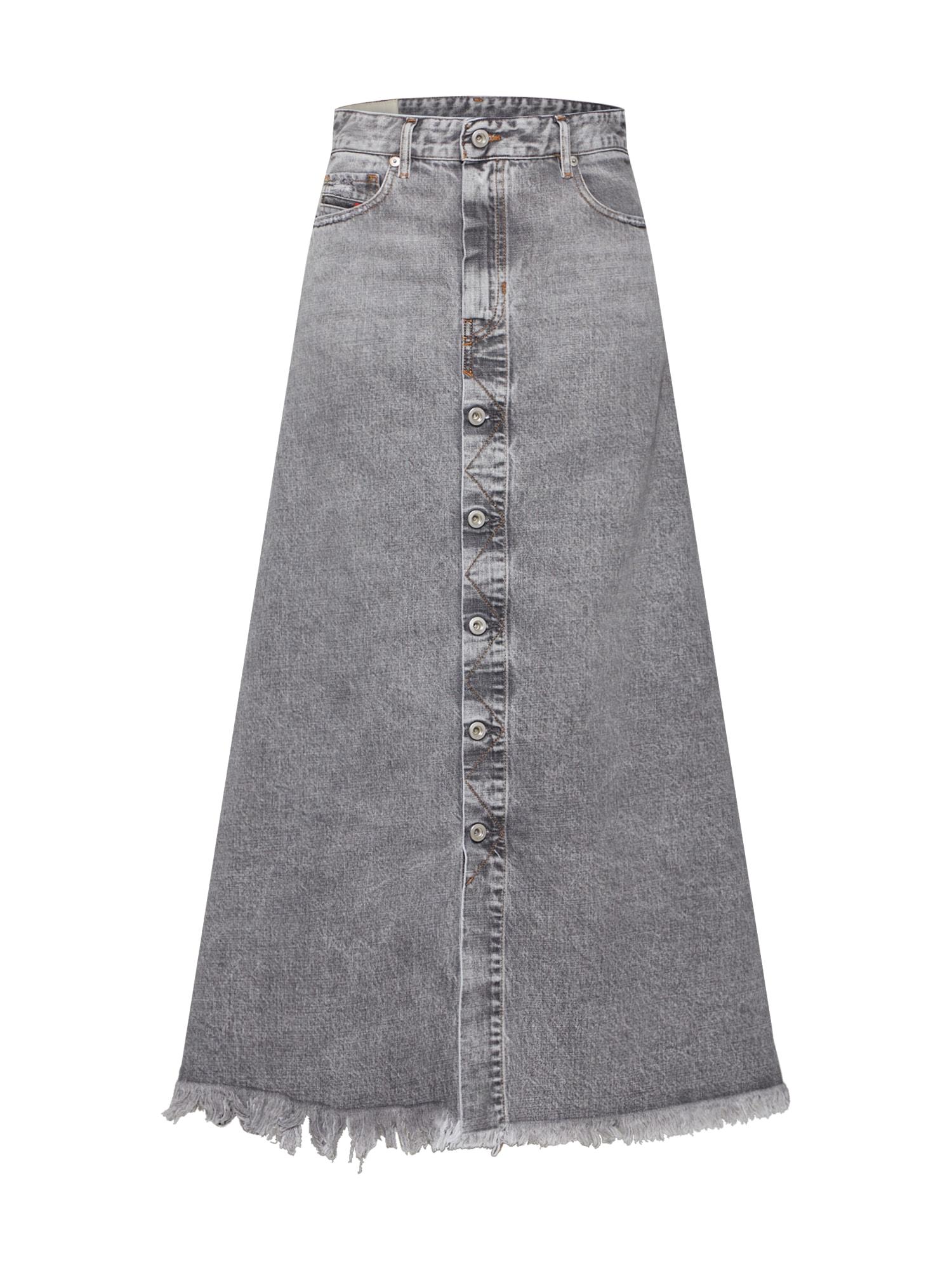 Sukně DE-MARGY šedá džínová DIESEL