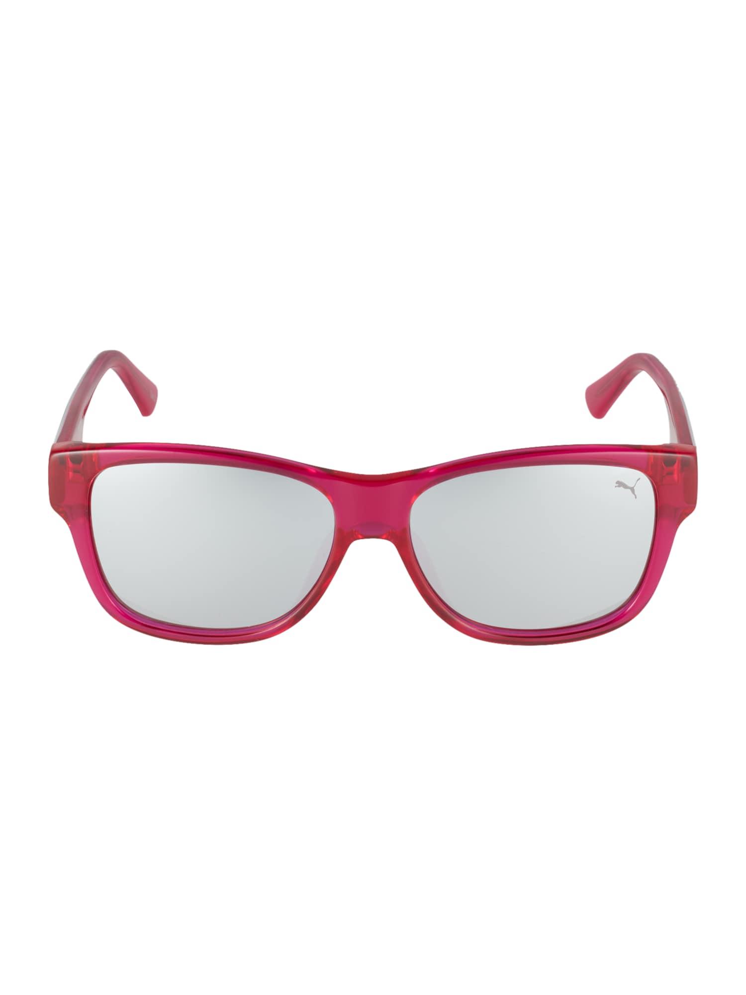 PUMA Slnečné okuliare 'PJ0004S '  strieborná / fuksia / čierna