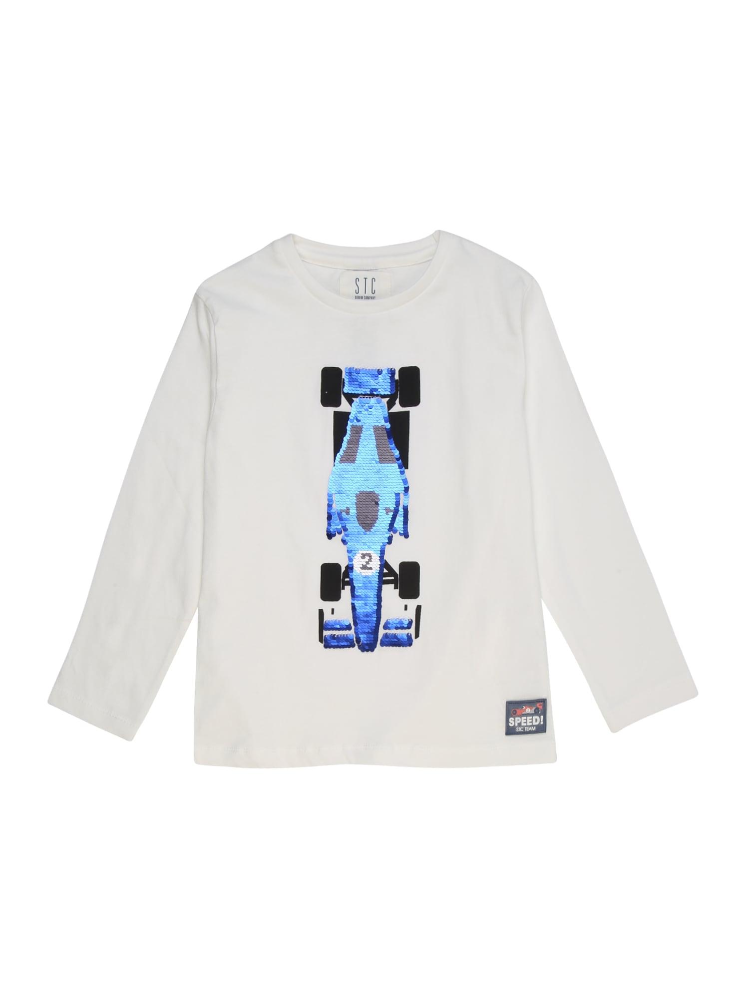 STACCATO Tričko  bílá / modrá