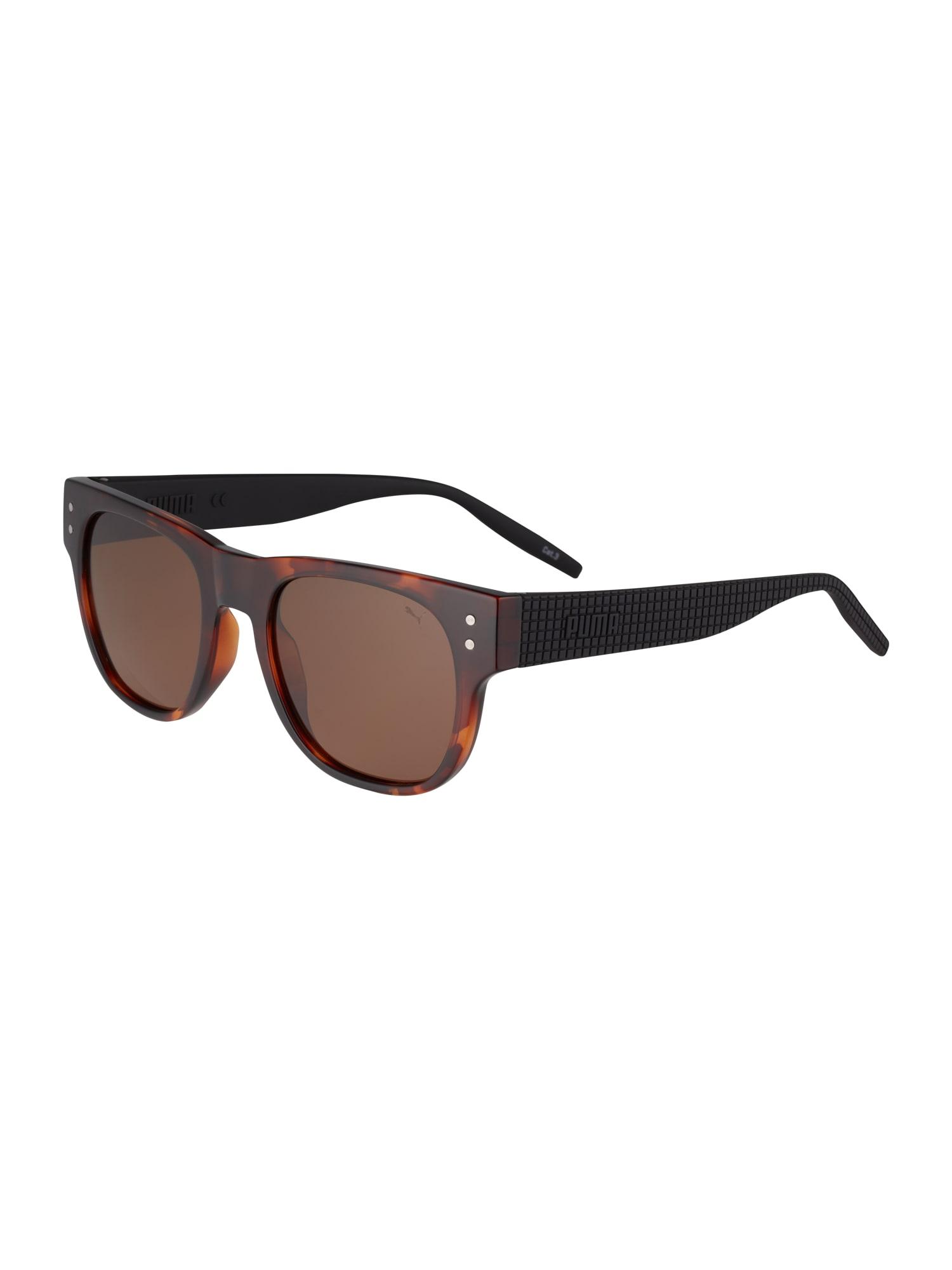 PUMA Slnečné okuliare 'PU0270S-001 51'  čierna / tmavohnedá