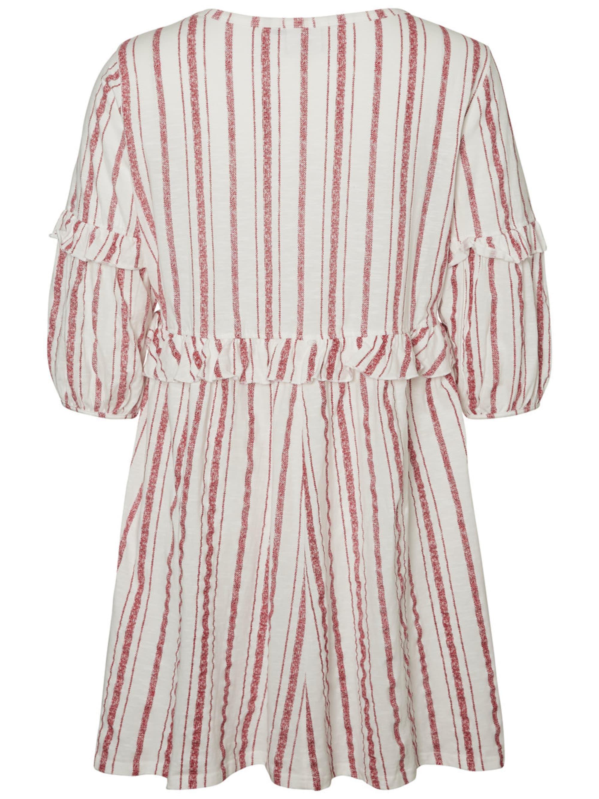 Junarose Sukienka  nakrapiany czerwony / biały