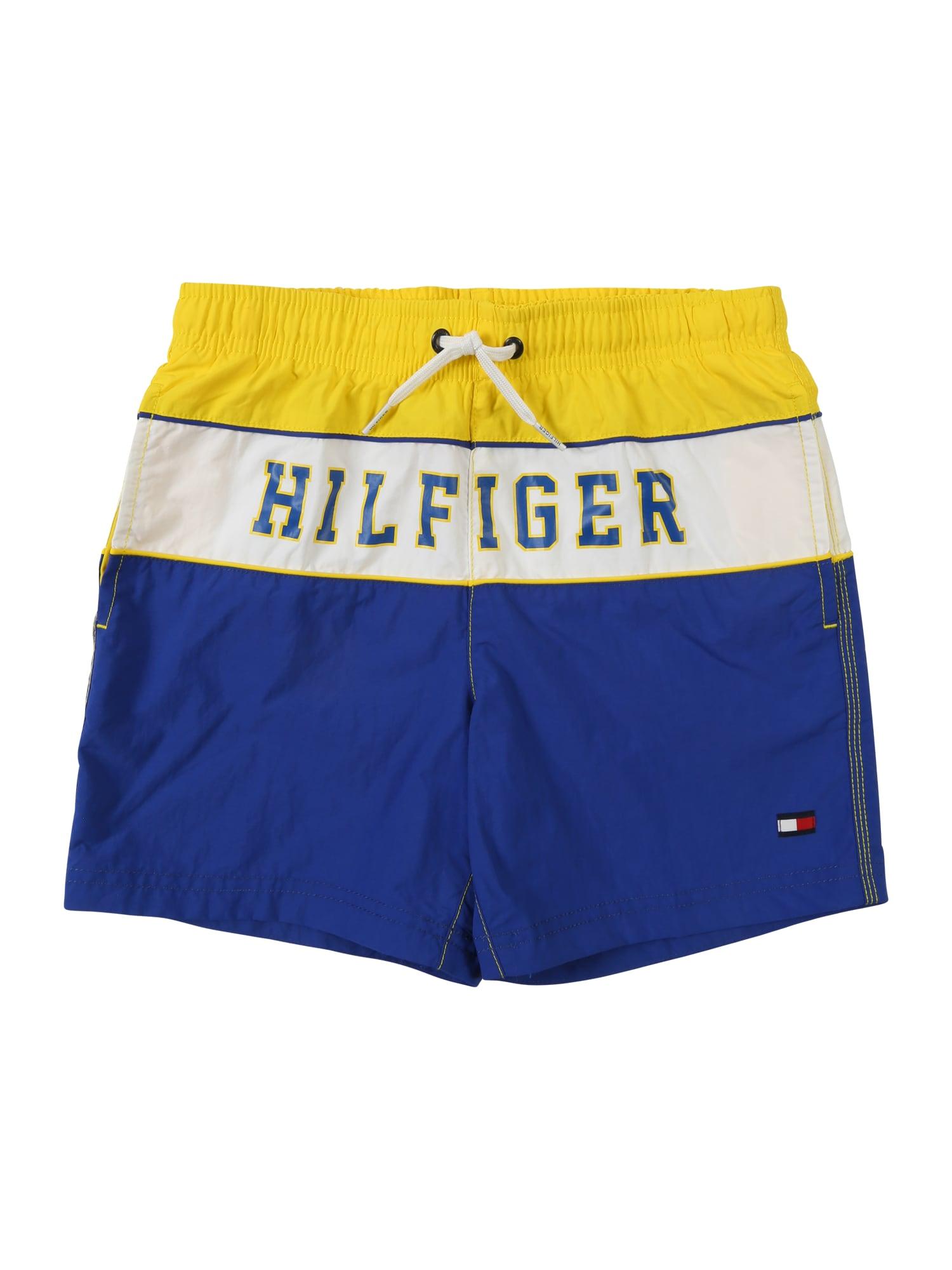 Plavky modrá žlutá bílá TOMMY HILFIGER