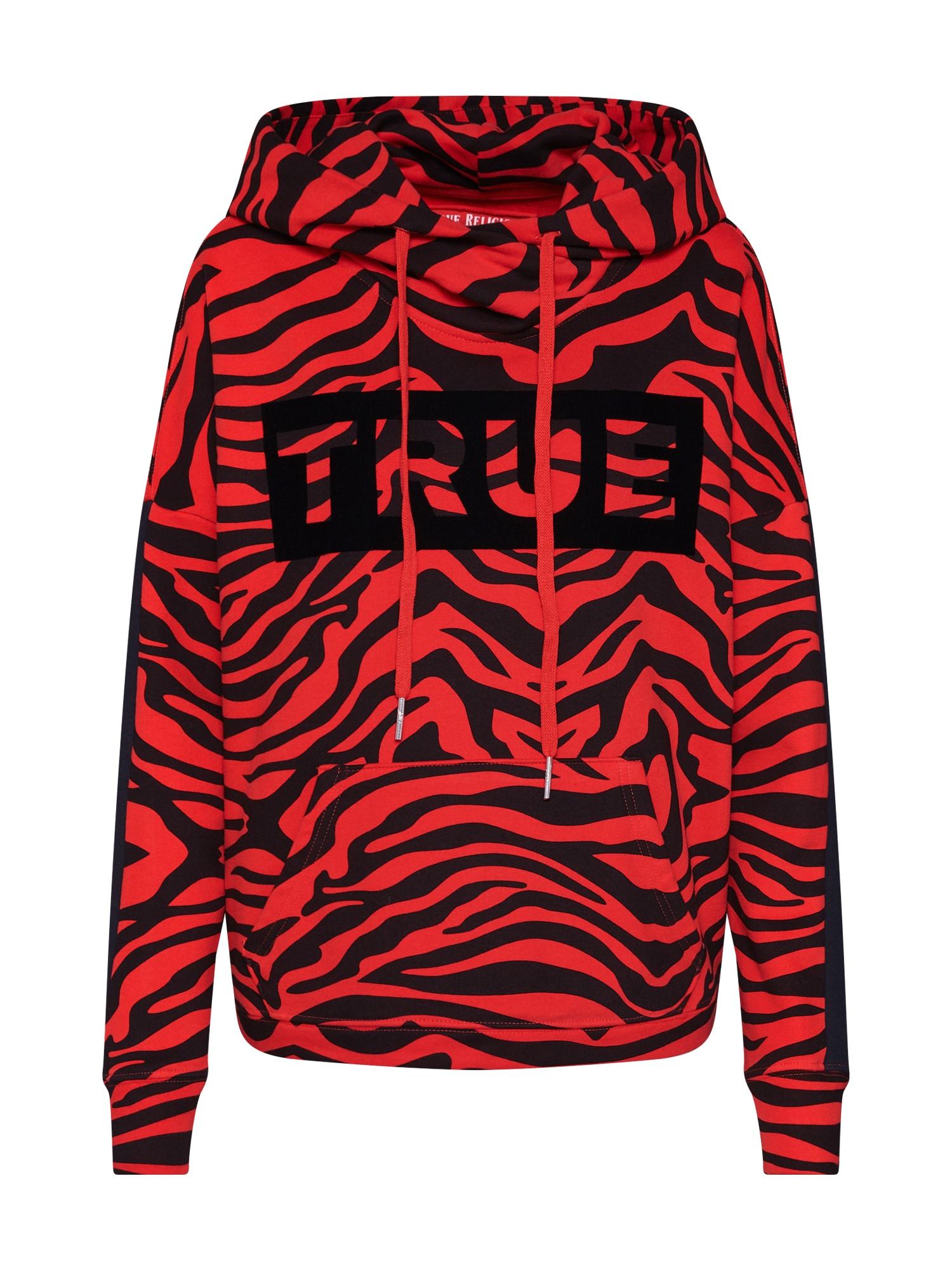 Mikina Hoodie Zebra oranžová True Religion